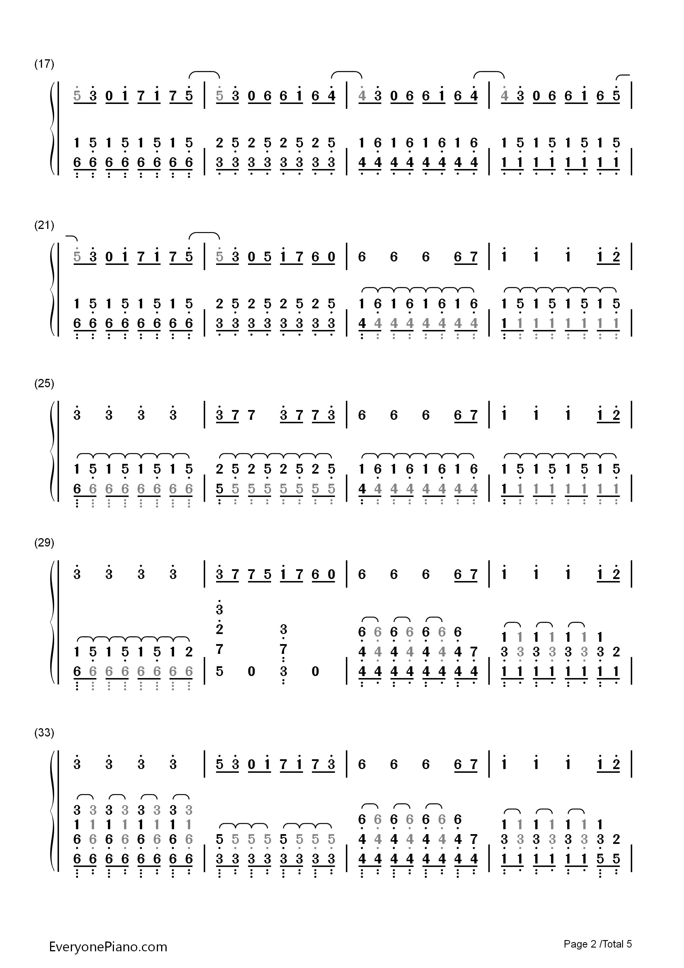 双回门谱子-简谱 钢琴谱 五线谱