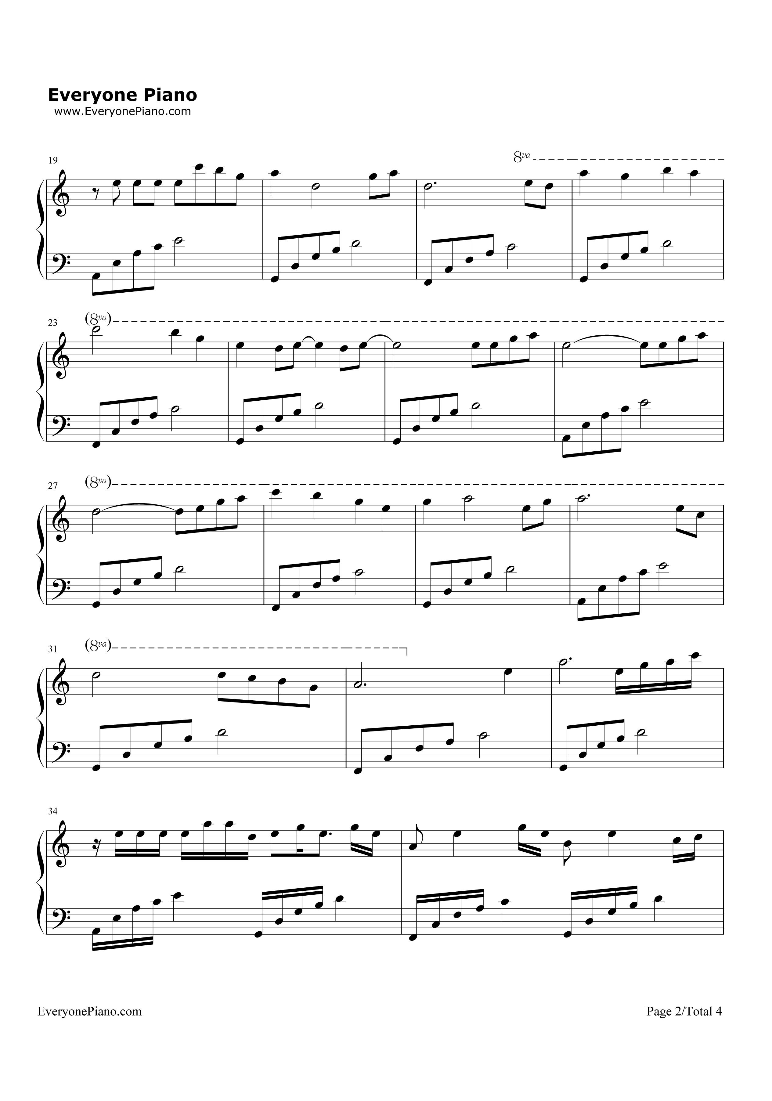月光-原创音乐五线谱预览2-钢琴谱(五线谱,双手简谱)