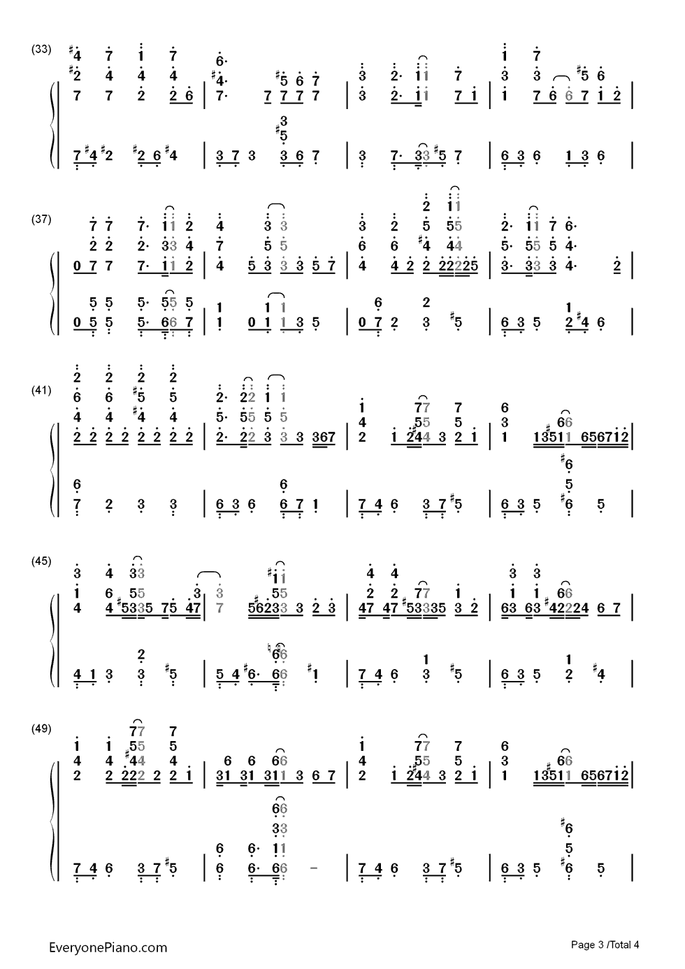 钢琴曲谱 动漫 贝多芬病毒-贝多芬病毒ost 贝多芬病毒-贝多芬病毒ost