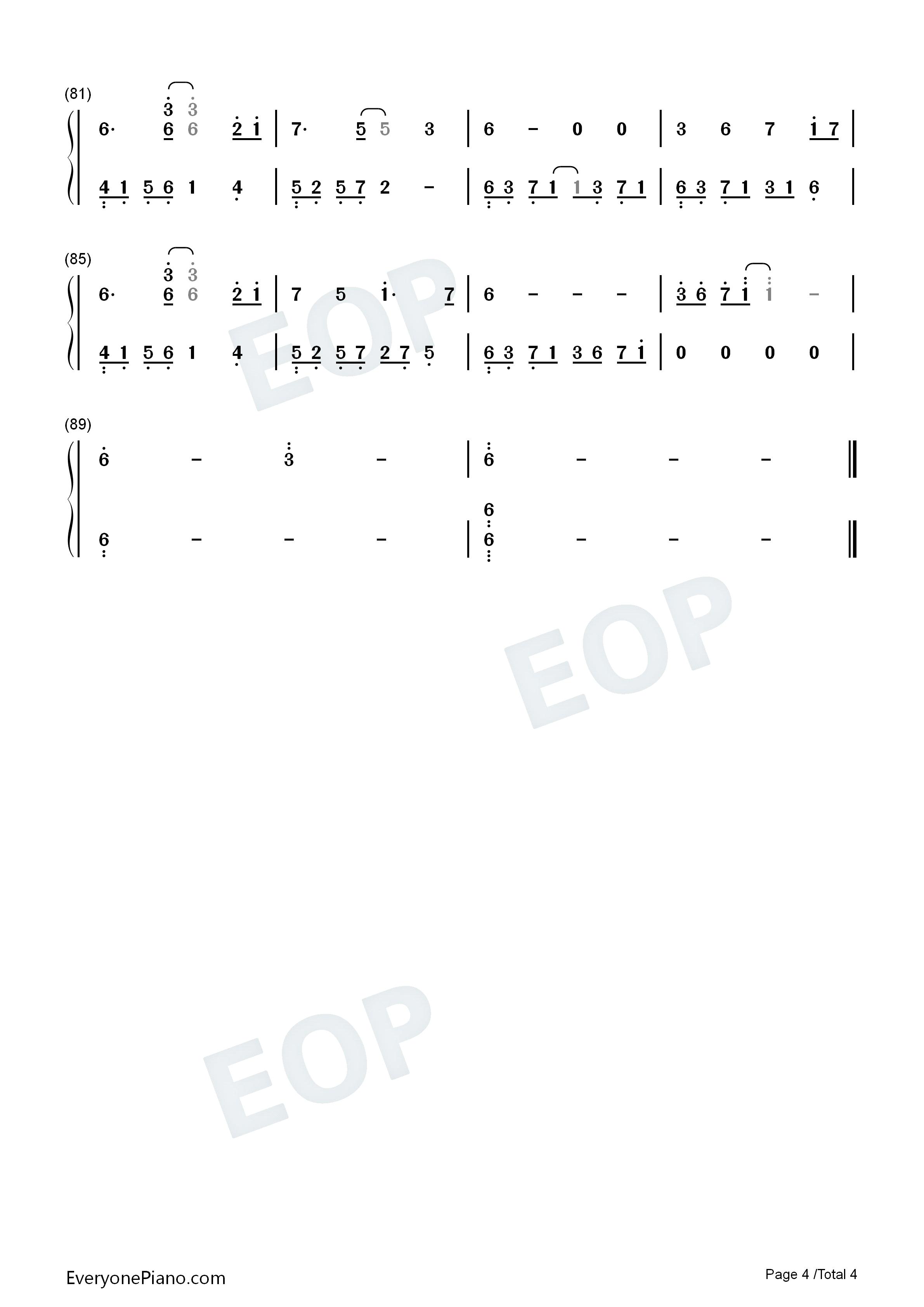 初级双手钢琴曲简谱