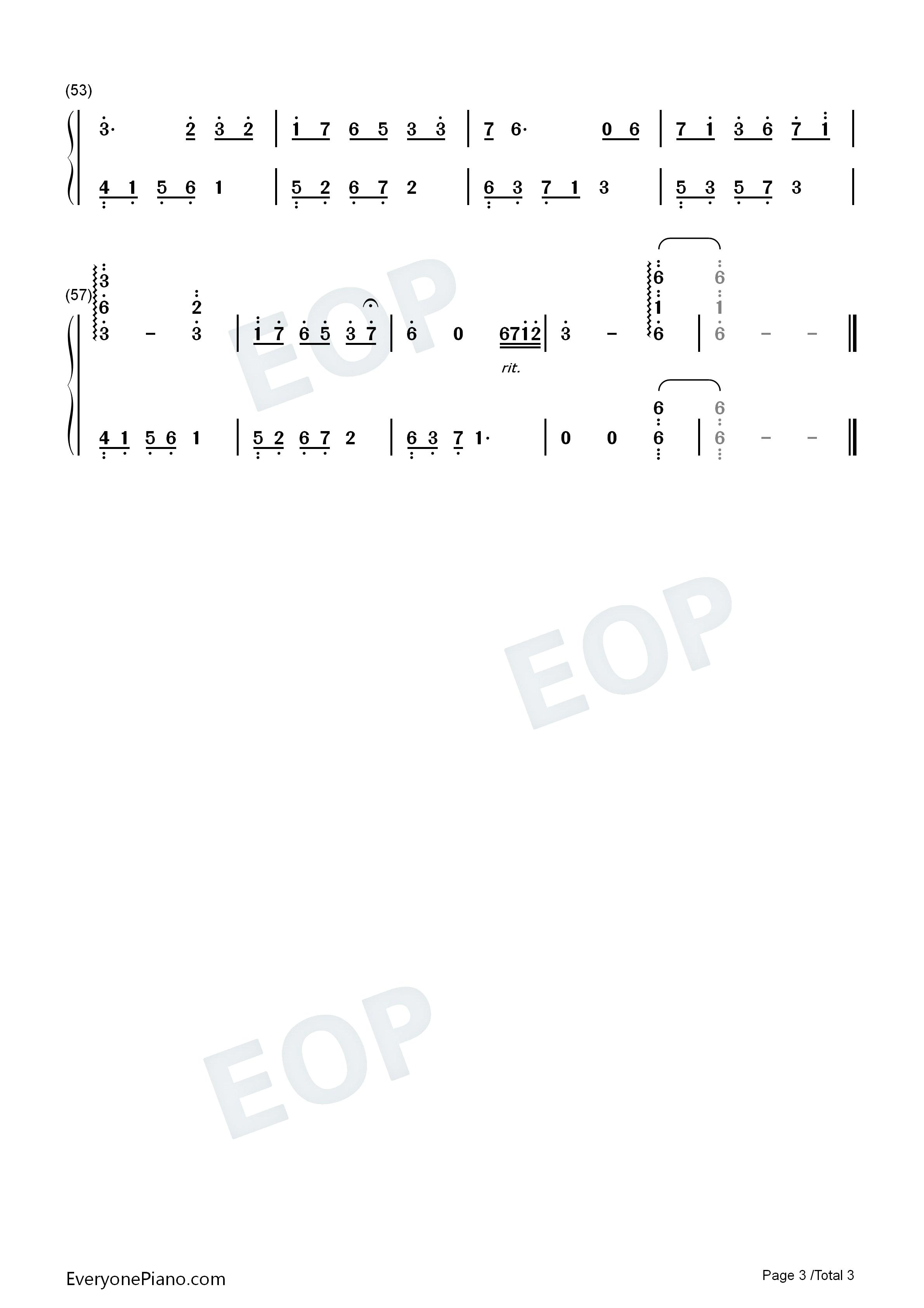夜的钢琴曲 19-石进双手简谱预览3图片