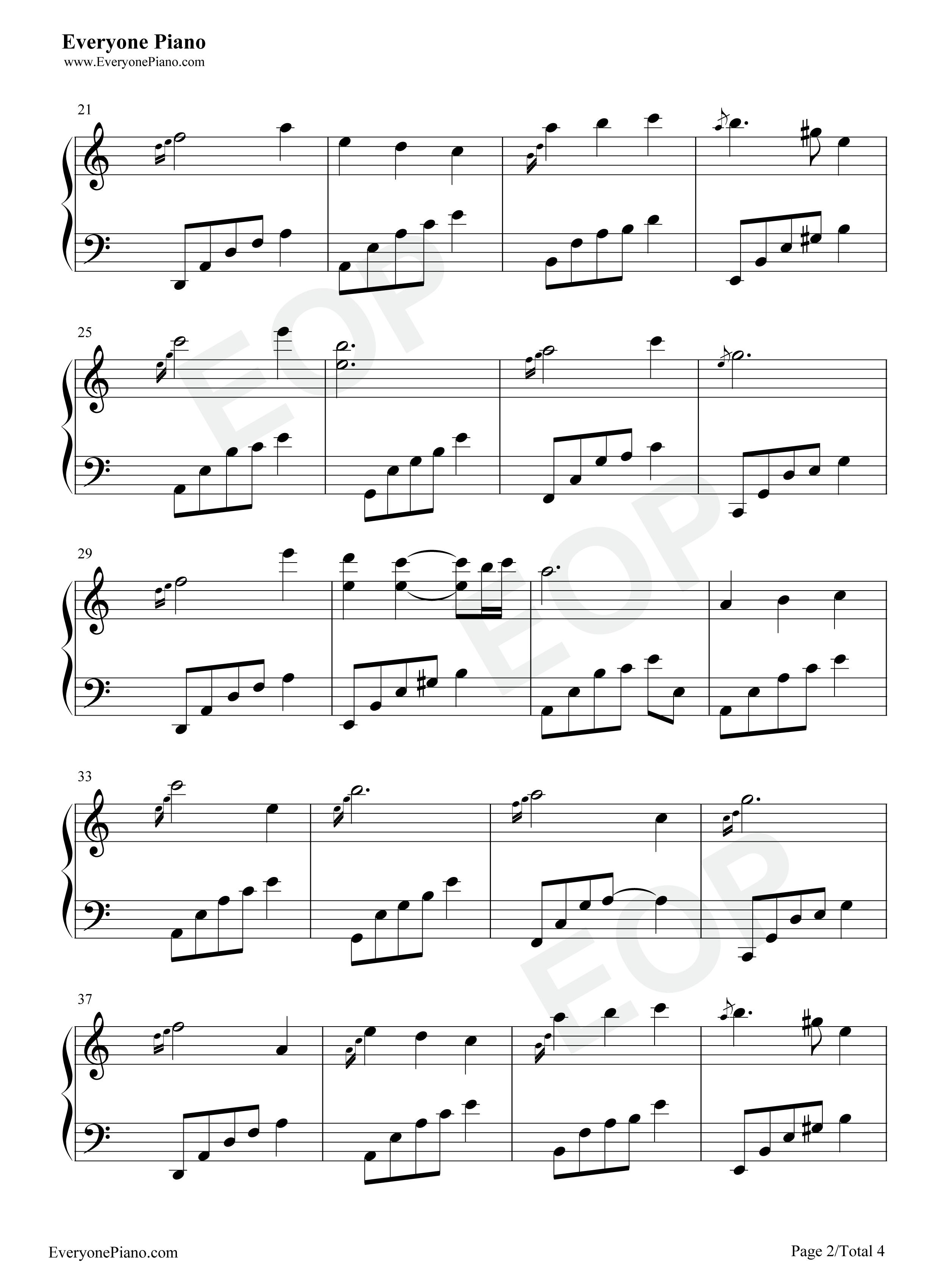 夜的钢琴曲 20-石进五线谱预览2图片