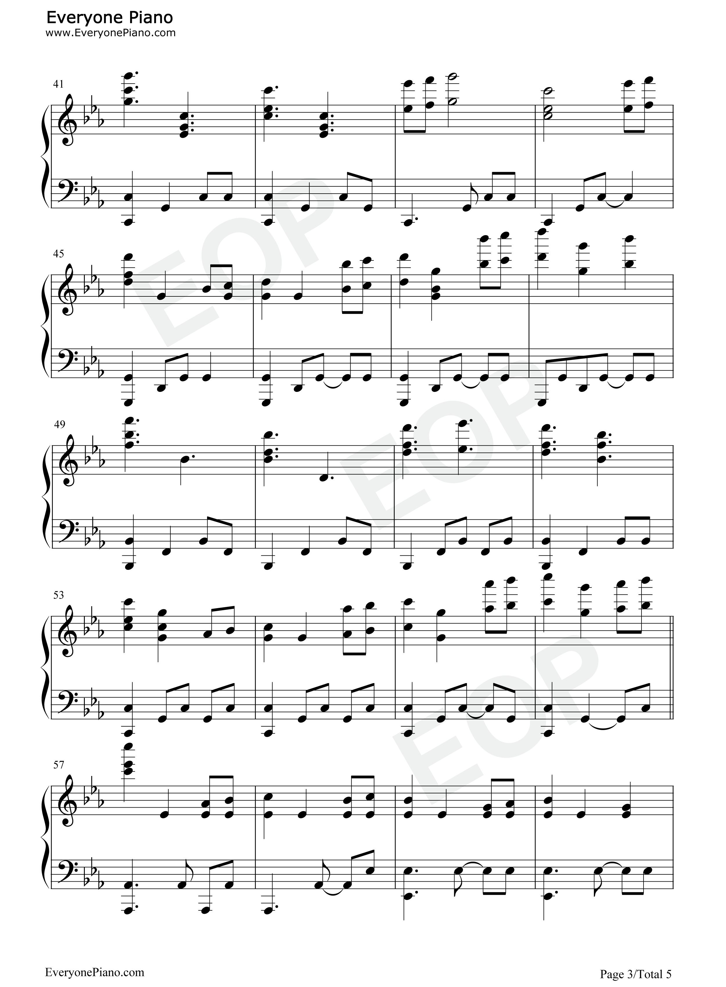 钢琴曲谱 流行 冰与火之歌-权力的游戏原声音乐 冰与火之歌-权力的