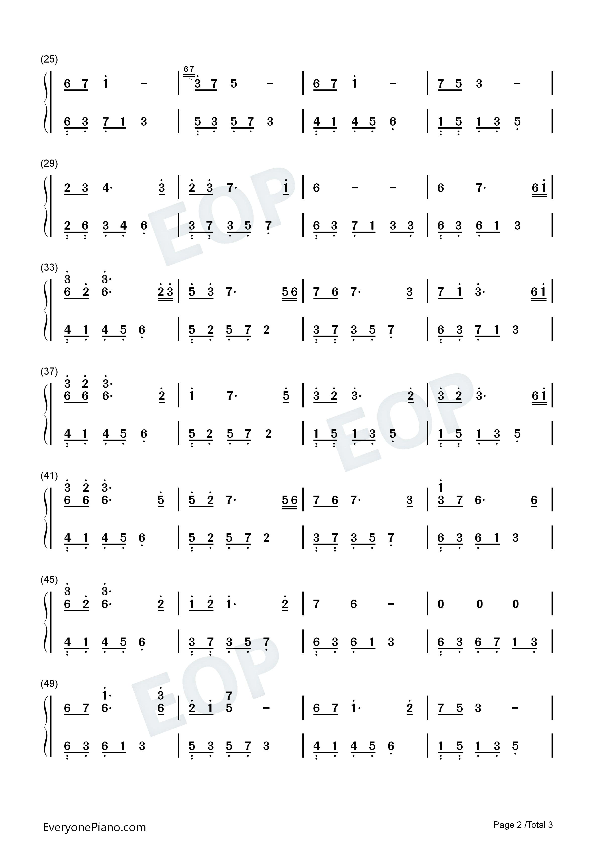 夜的钢琴曲 22-石进双手简谱预览2-钢琴谱档(五线谱