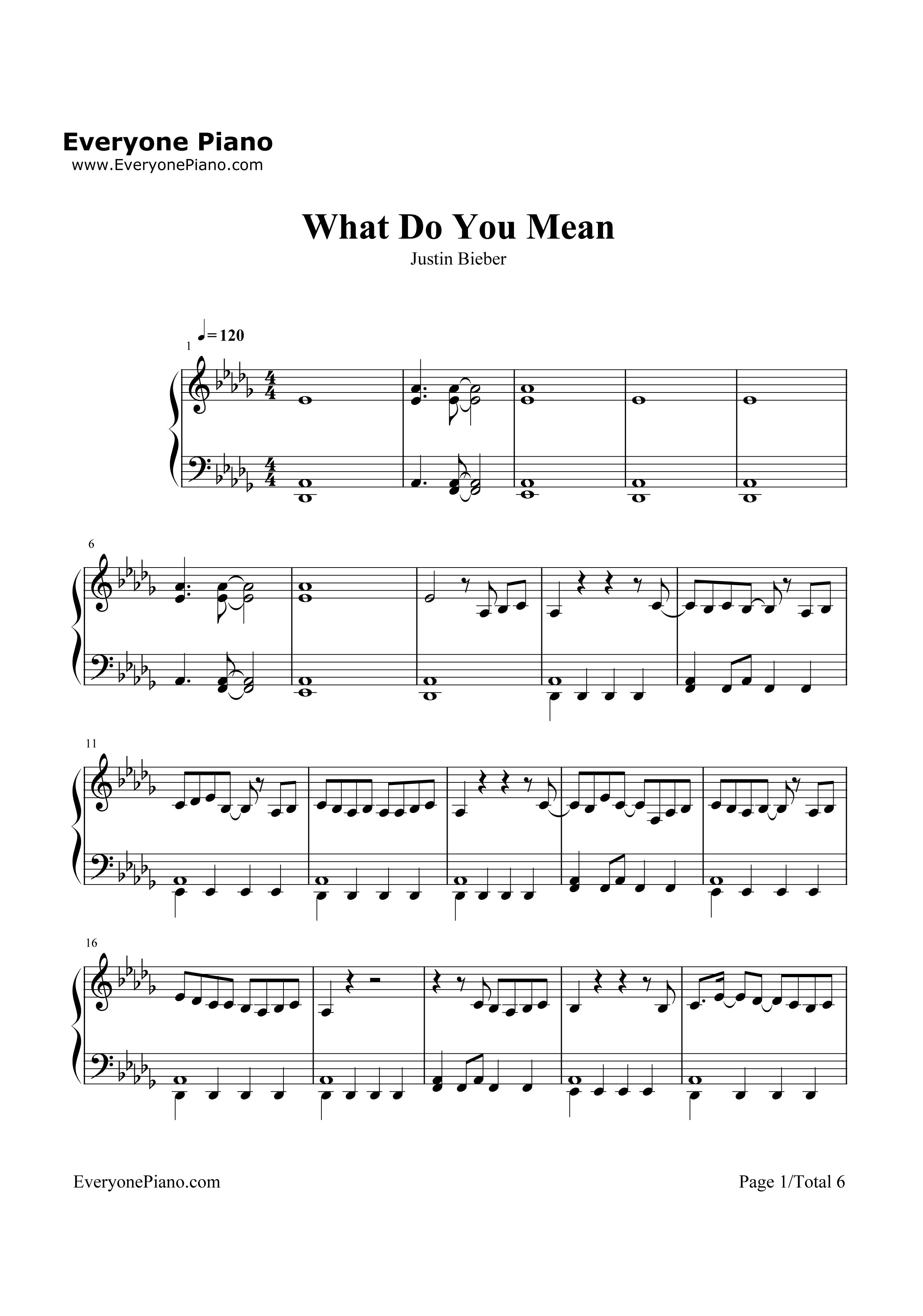 do you 的钢琴谱