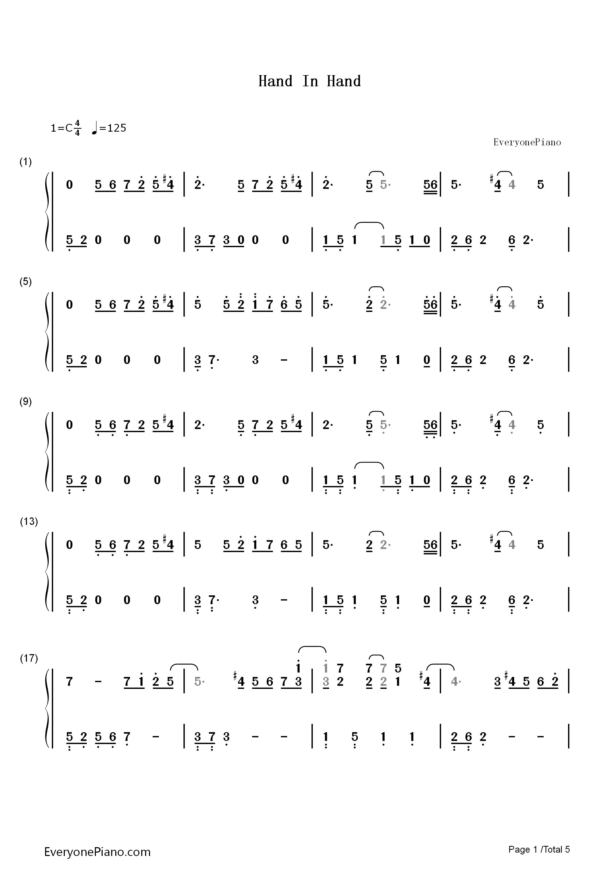 handclap单簧谱子