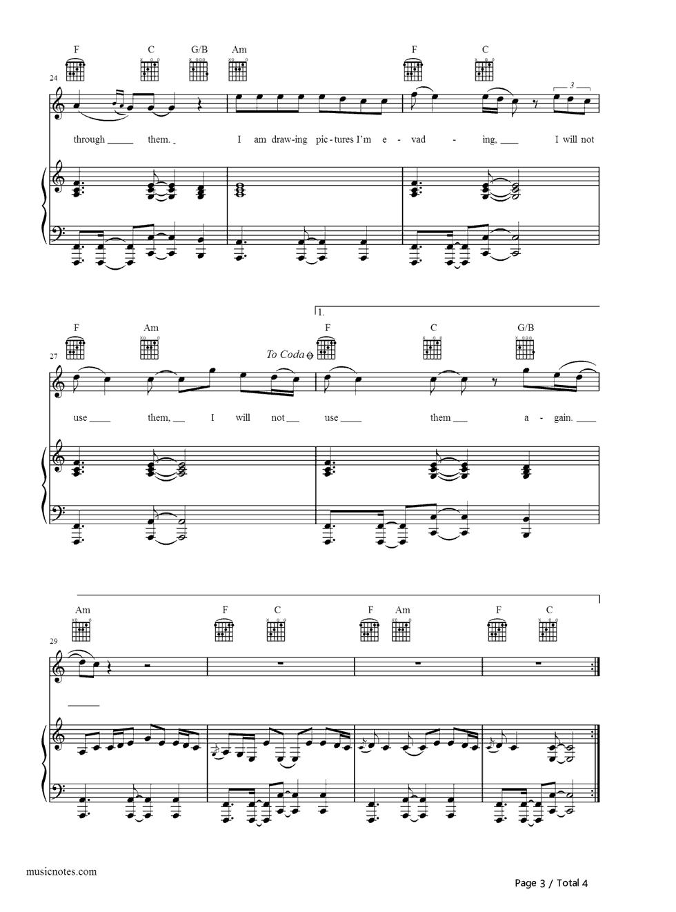 eyes shut-years and years五线谱预览3-钢琴谱(,双手