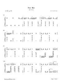 钢琴曲谱 流行     那个男人杨宗纬自己填词的新歌,翻唱自韩国歌手