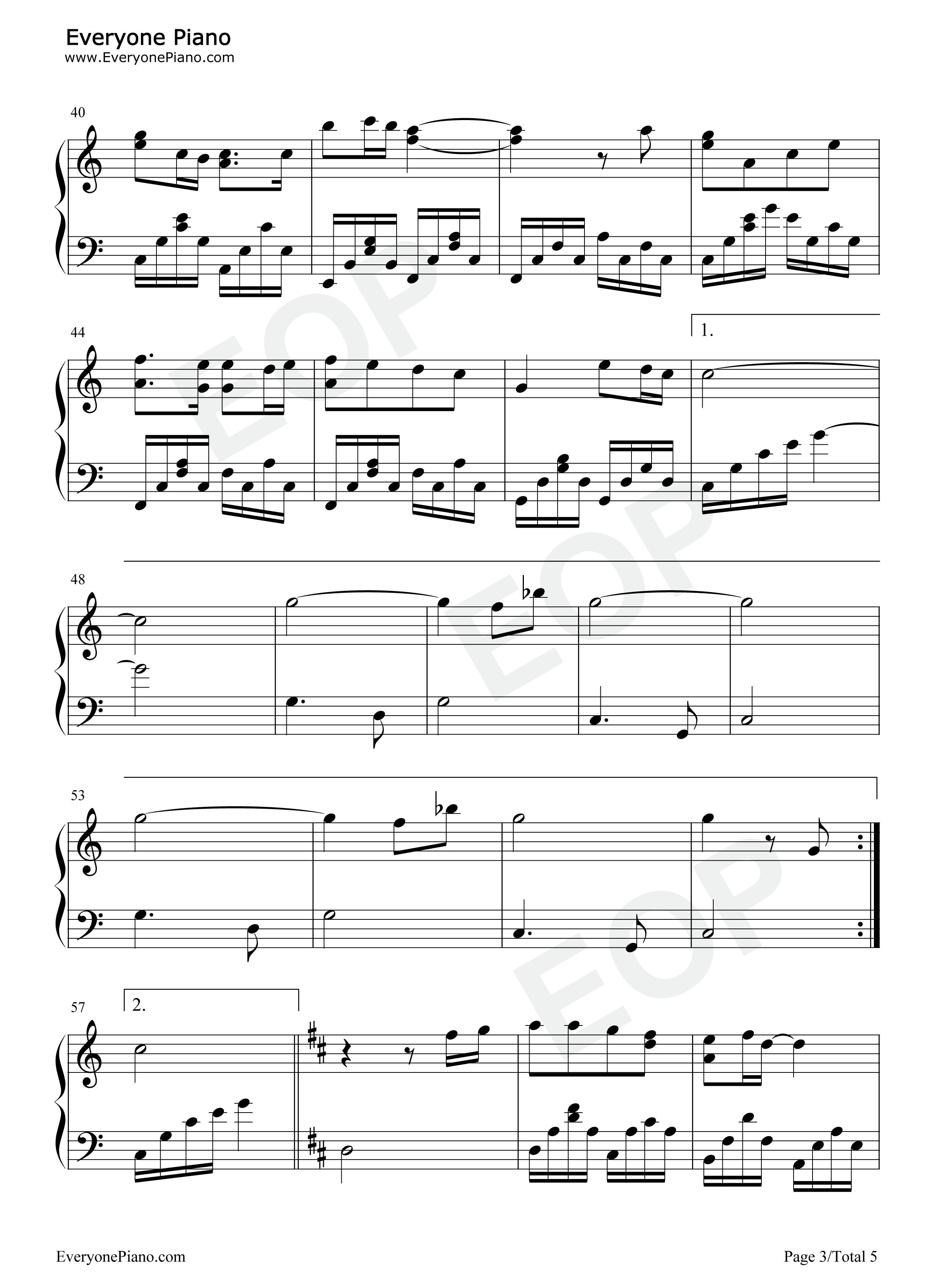 钢琴曲谱 儿歌 感谢-幼儿园毕业感恩歌曲 感谢-幼儿园毕业感恩歌曲-三