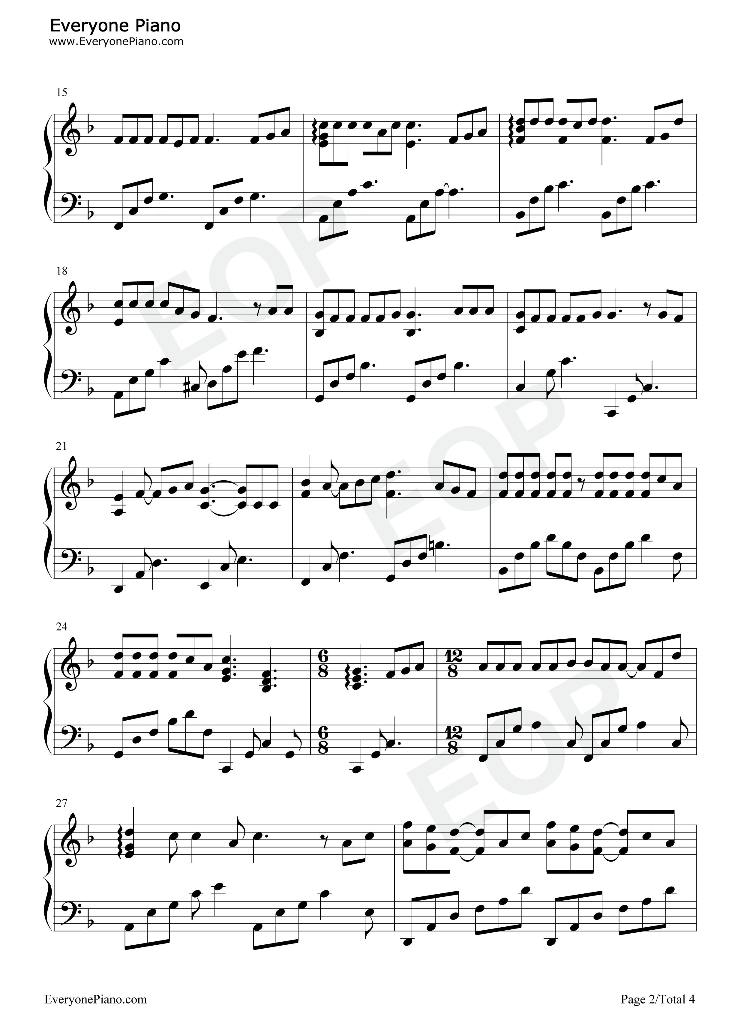 钢琴曲谱 流行 老街-李荣浩 老街-李荣浩五线谱预览2  }  仅供学习