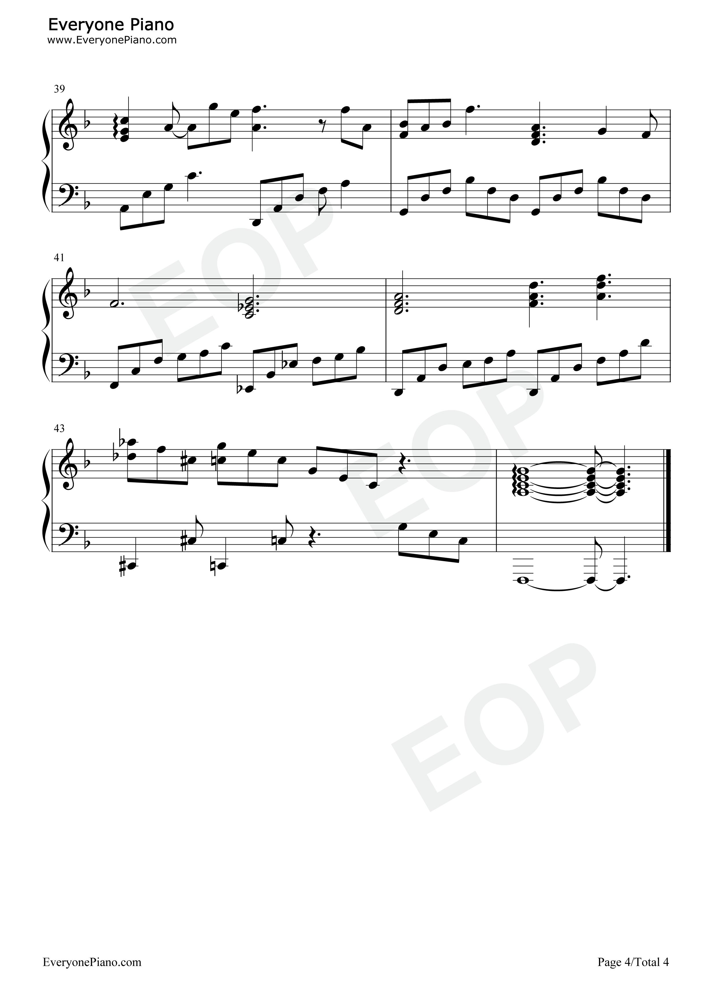 老街钢琴简谱