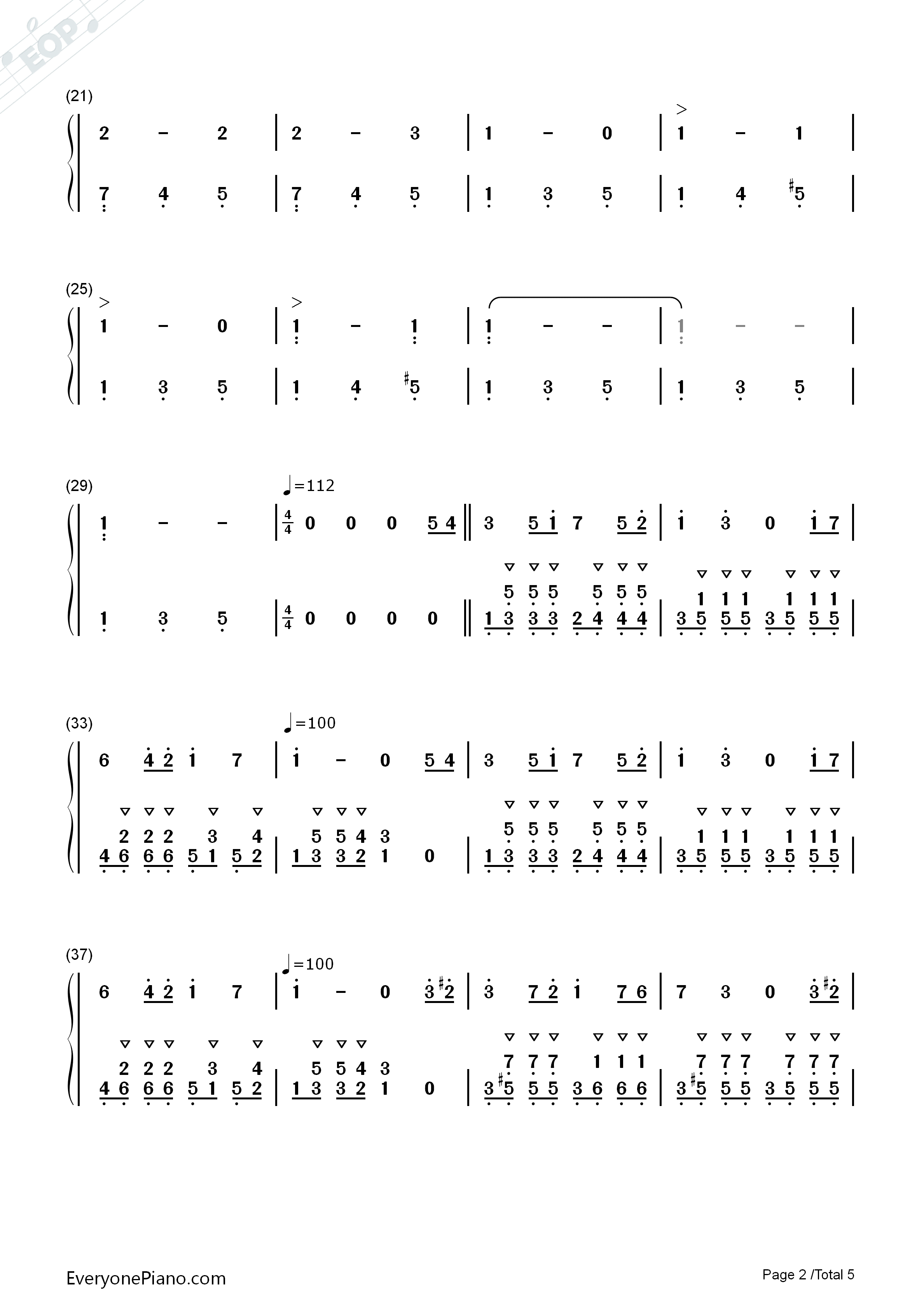 简单儿童歌曲双手简谱