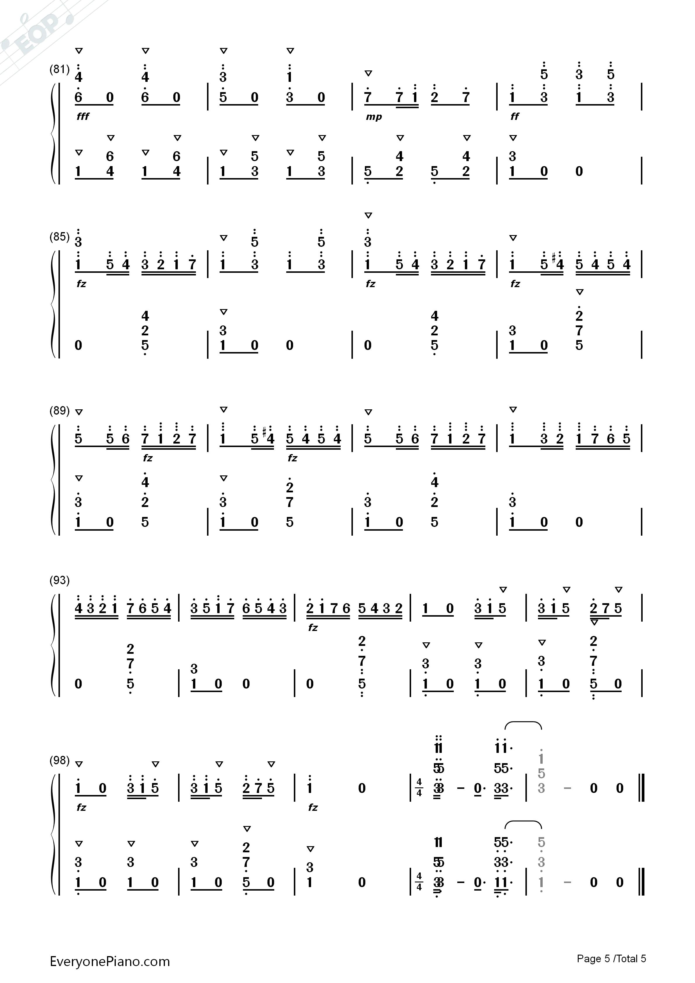 洋娃娃的梦-儿童歌曲双手简谱预览5-钢琴谱(五线谱,)