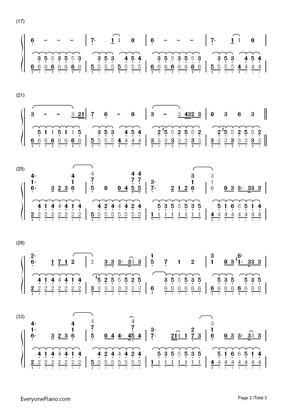 ago-adele双手简谱预览2-钢琴谱