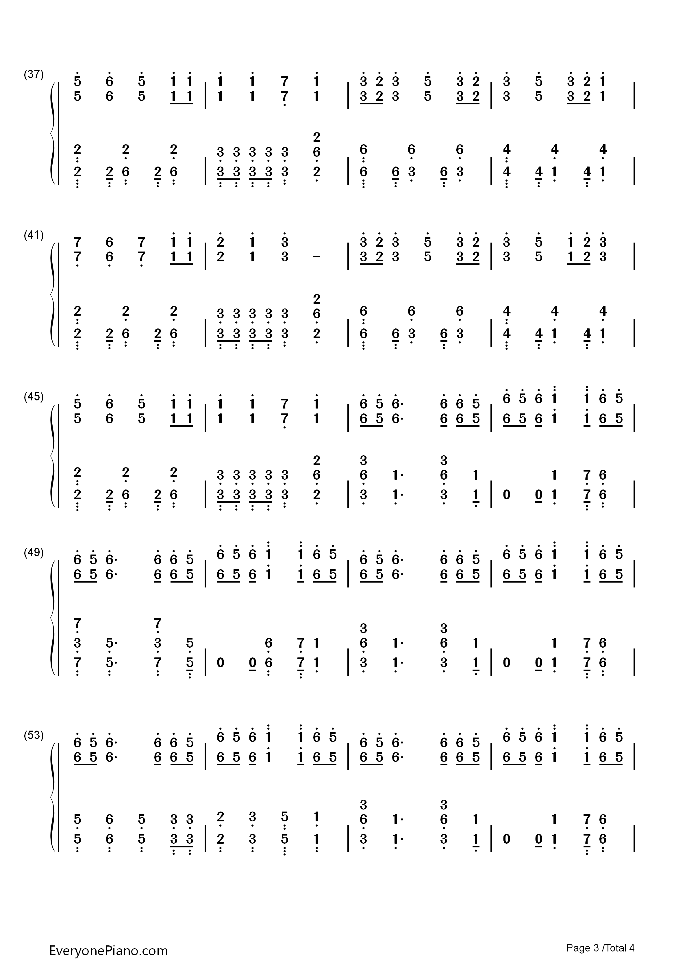 question-暗杀教室第二季op双手简谱预览3-钢琴谱(