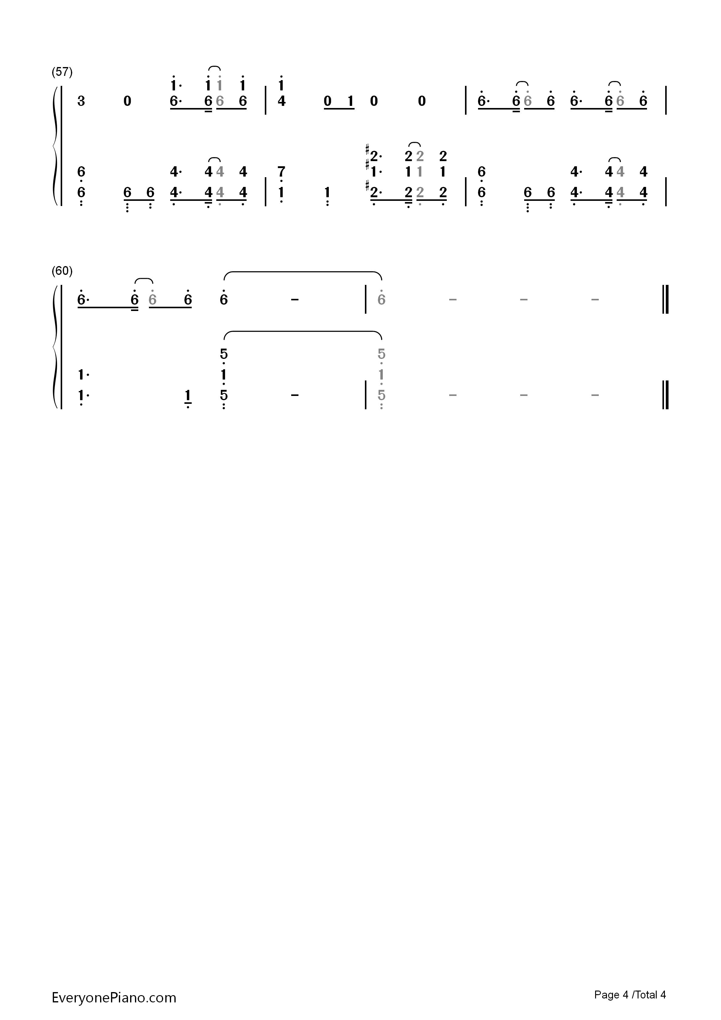 明日を鸣らせ-妖精的尾巴op22双手简谱预览4