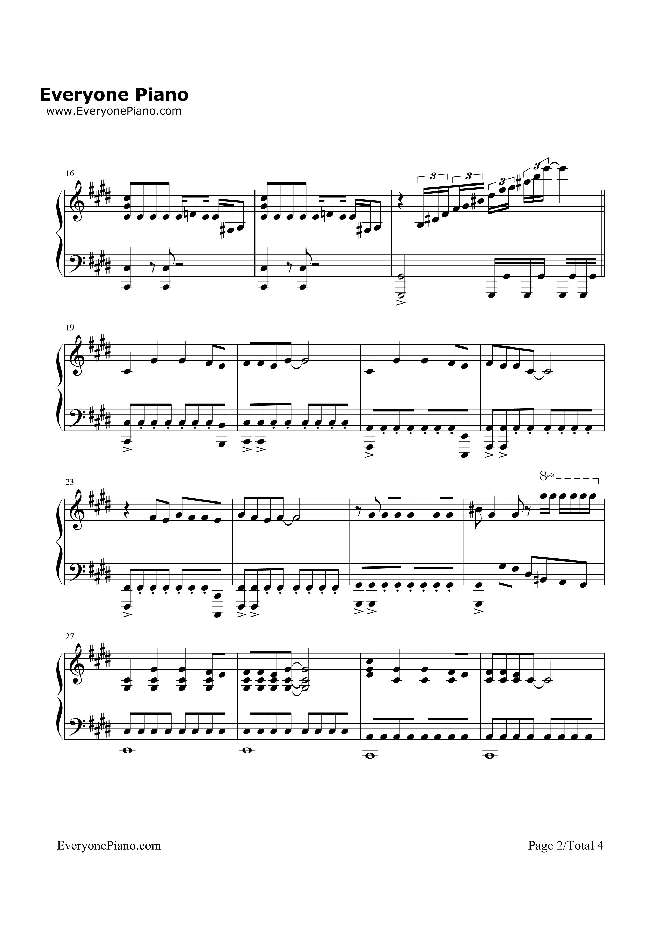 钢琴曲谱 流行 就是孙悟空-西游记之孙悟空三打白骨精主题曲 就是孙