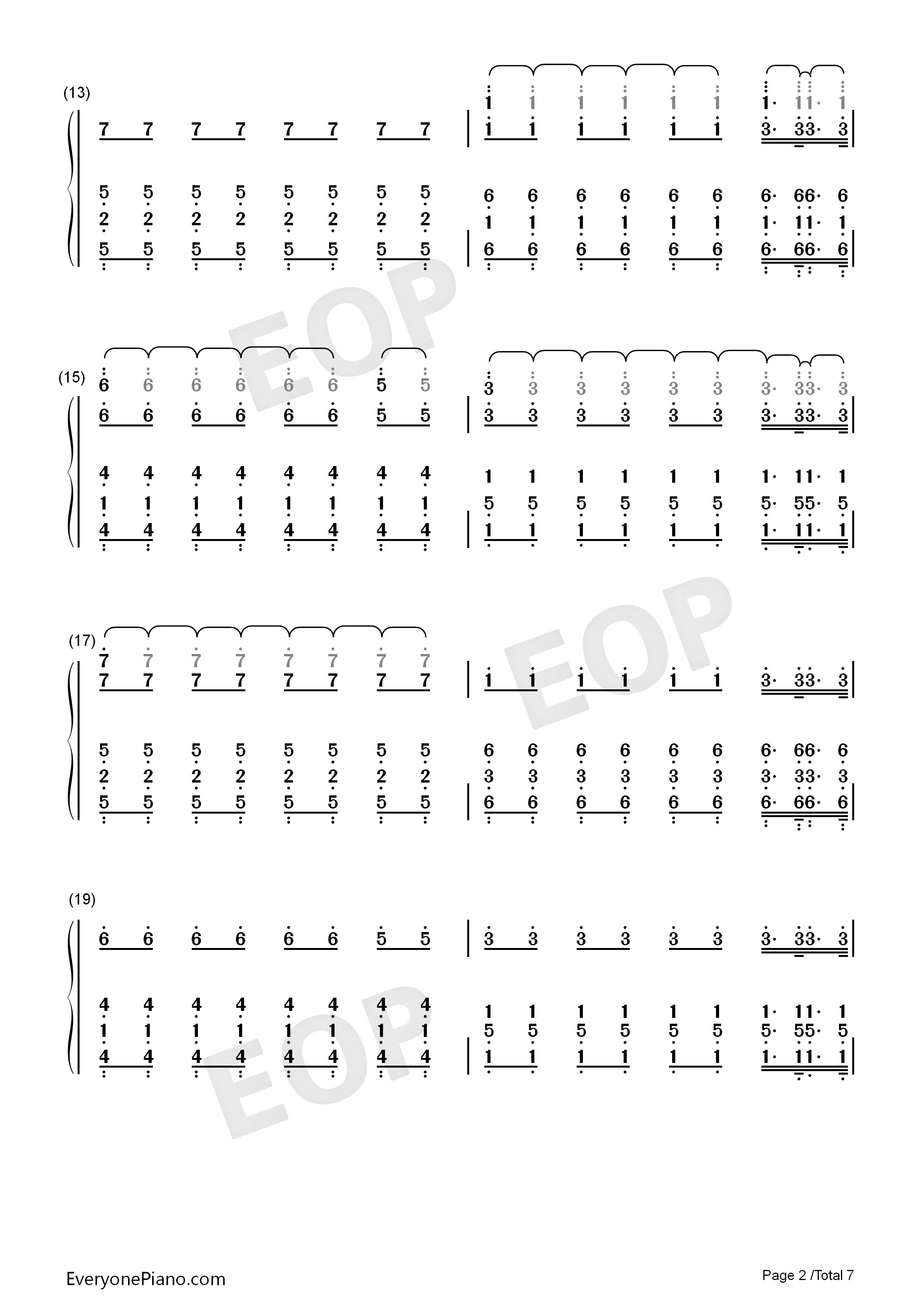 电鼓垫12数字曲谱fade