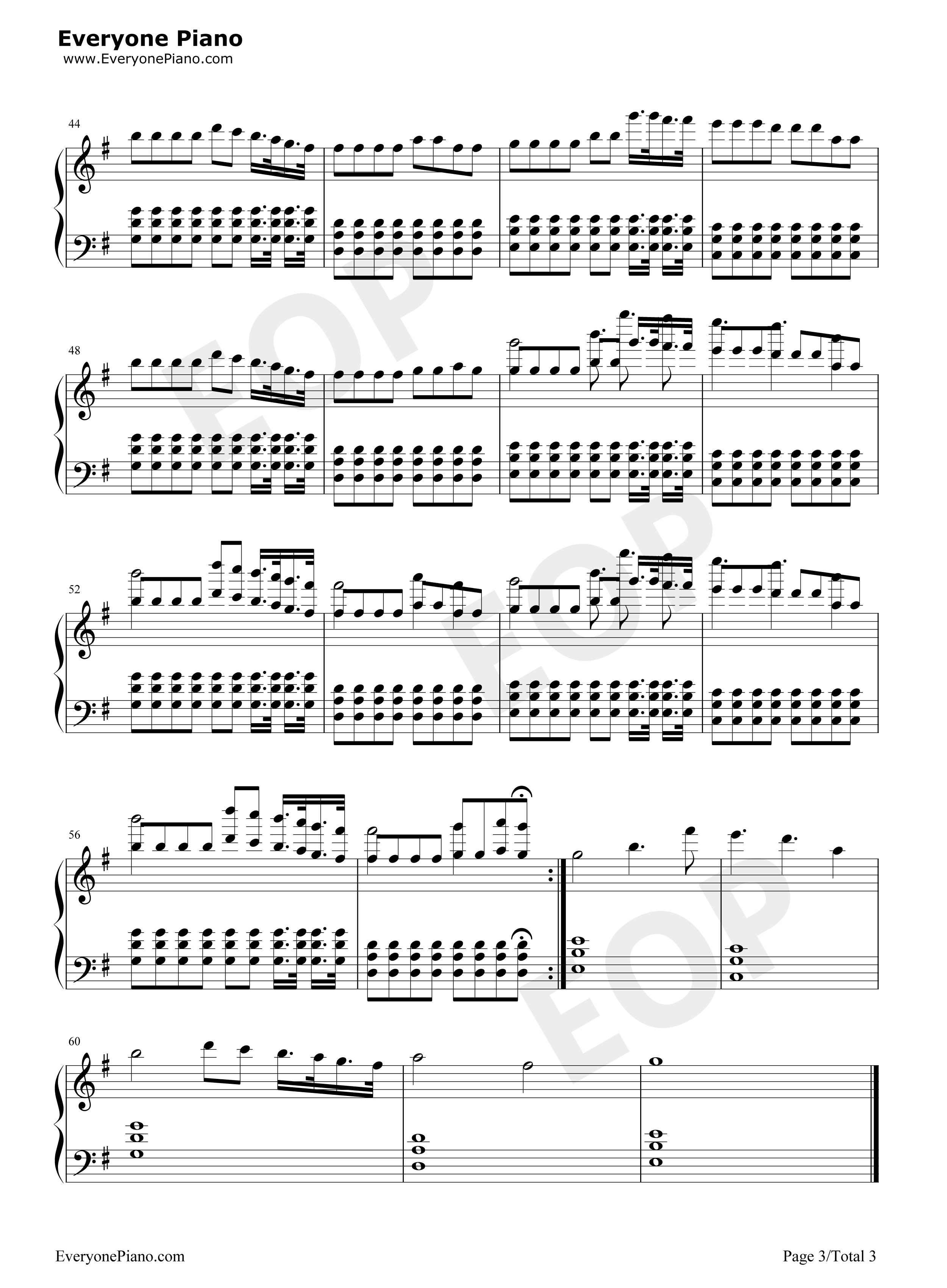 jude简易版钢琴谱