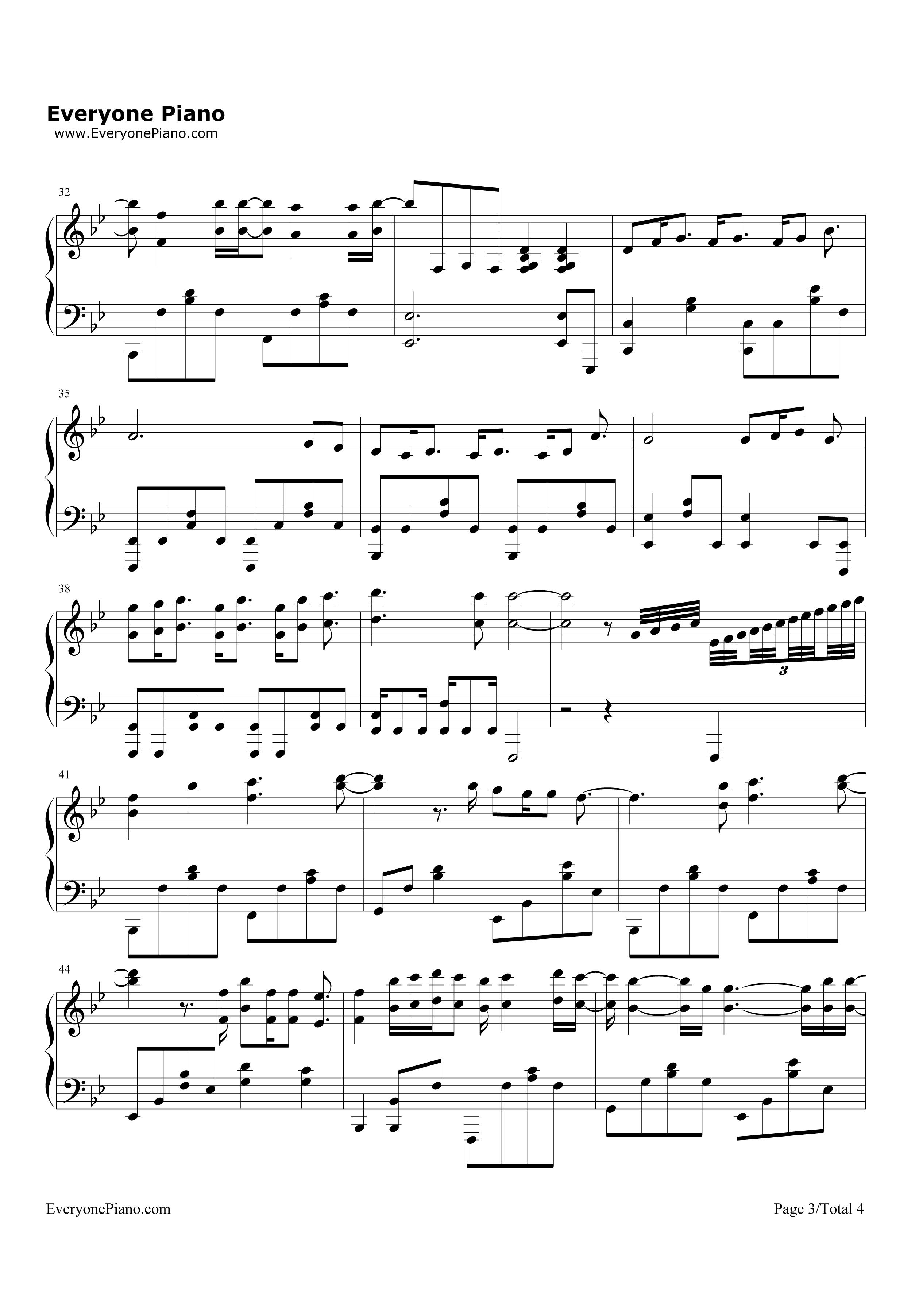 always-太阳的后裔ost五线谱预览3-钢琴谱-Always 太阳的后裔主题曲吉