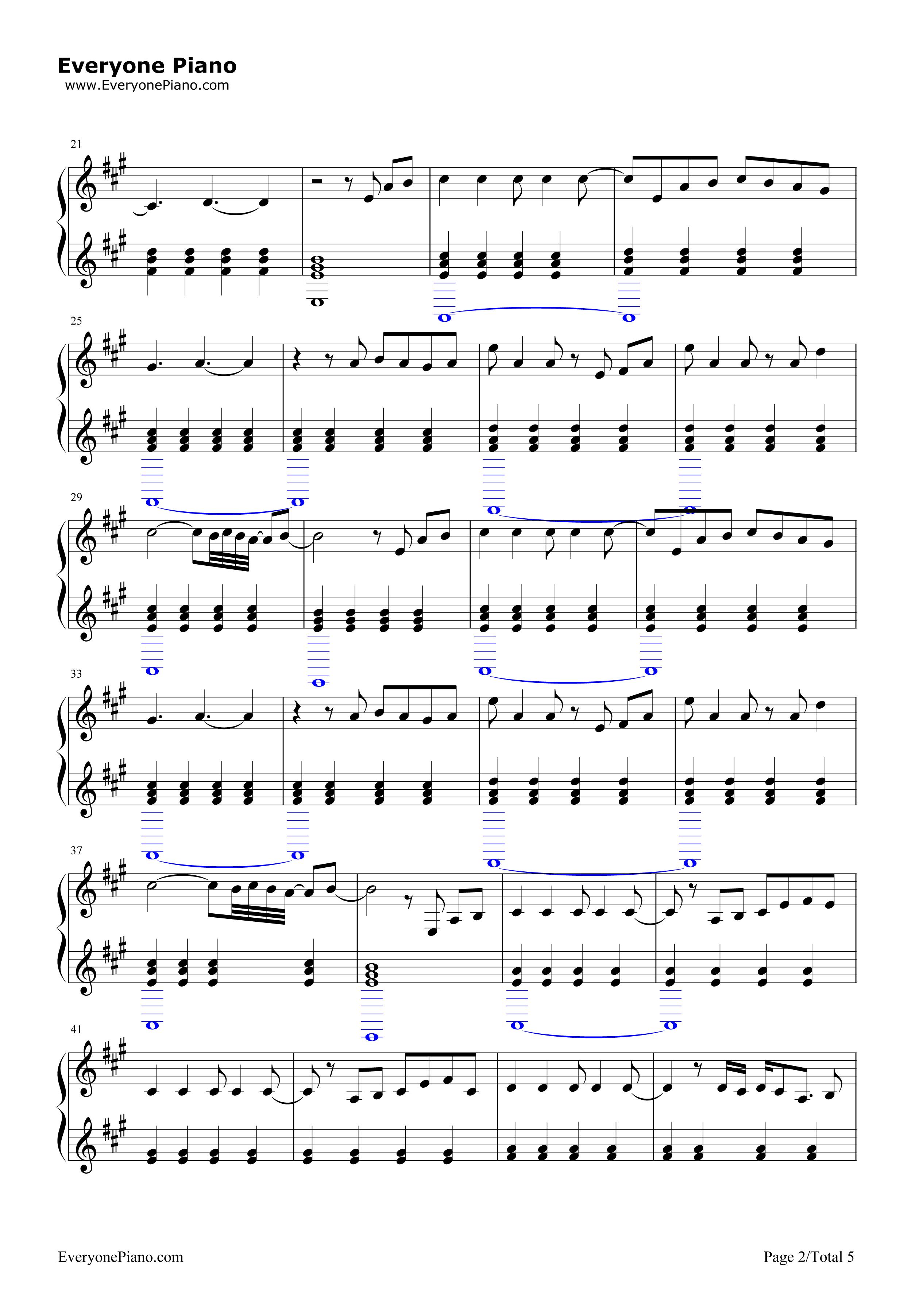 e Song Little Mix五线谱预览2 钢琴谱档 五线谱 双手简谱 数位谱 Midi