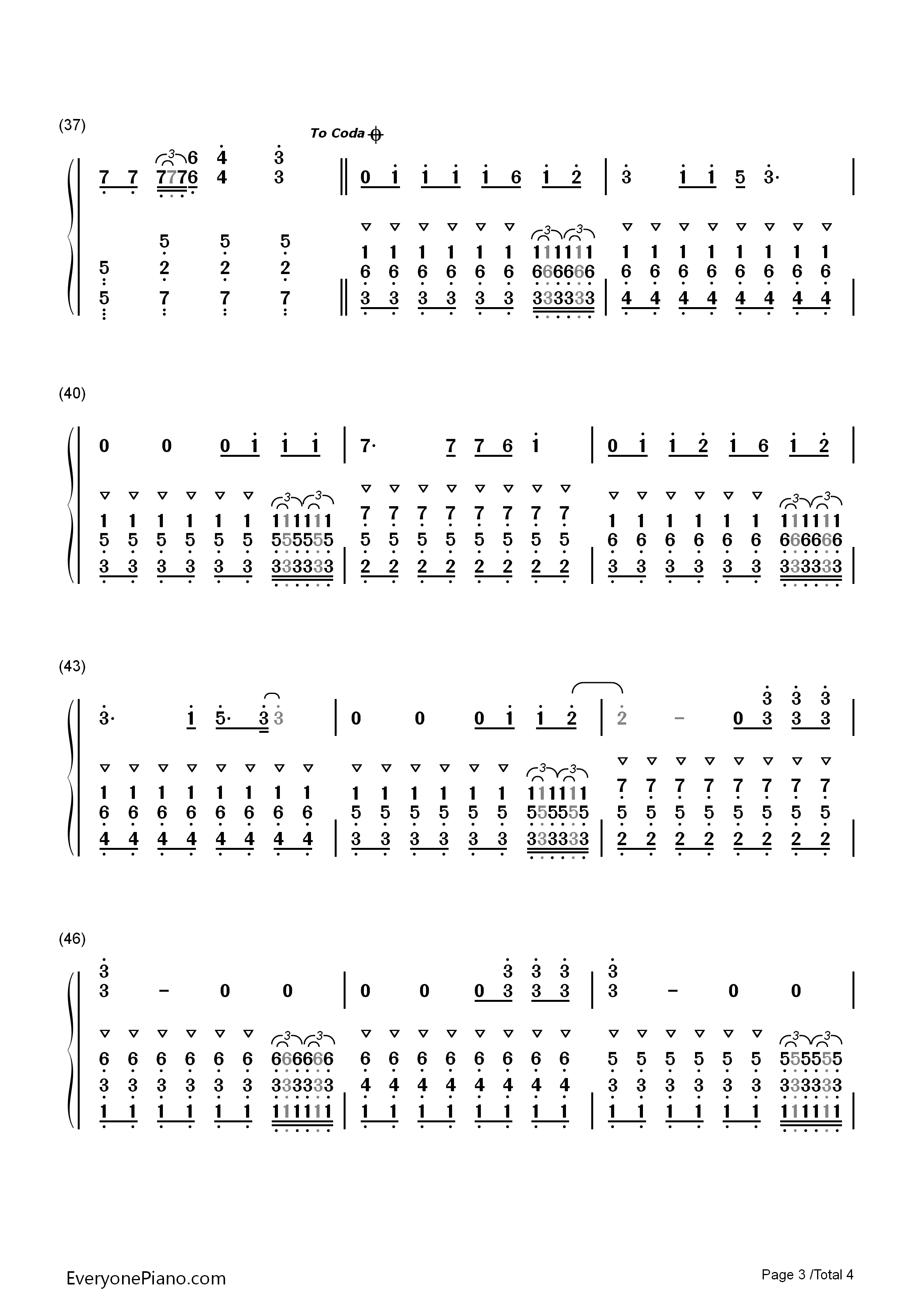 aded钢琴谱数字简谱双手-faded 试听