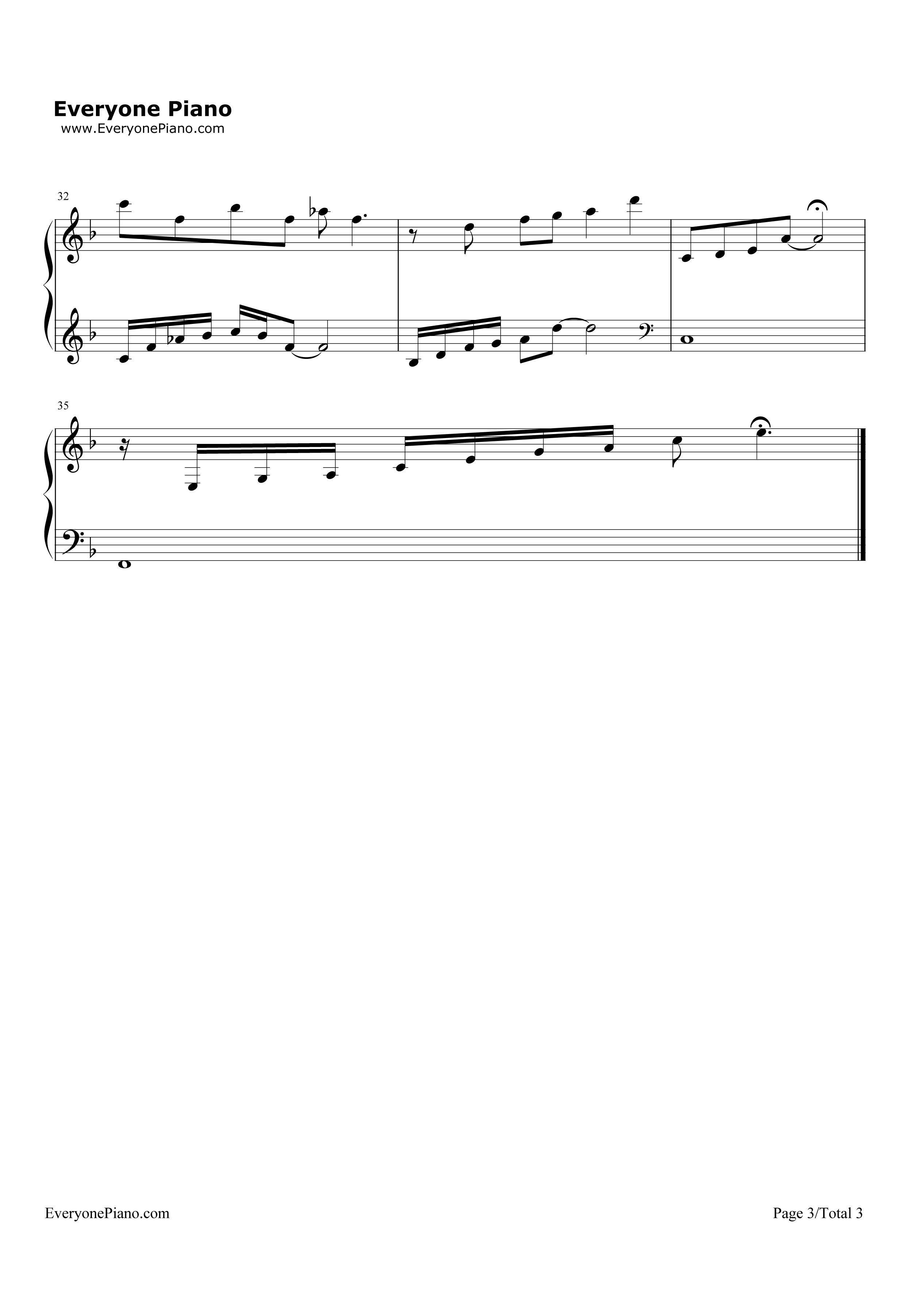 钢琴曲谱 流行 说不出口-欢乐颂插曲