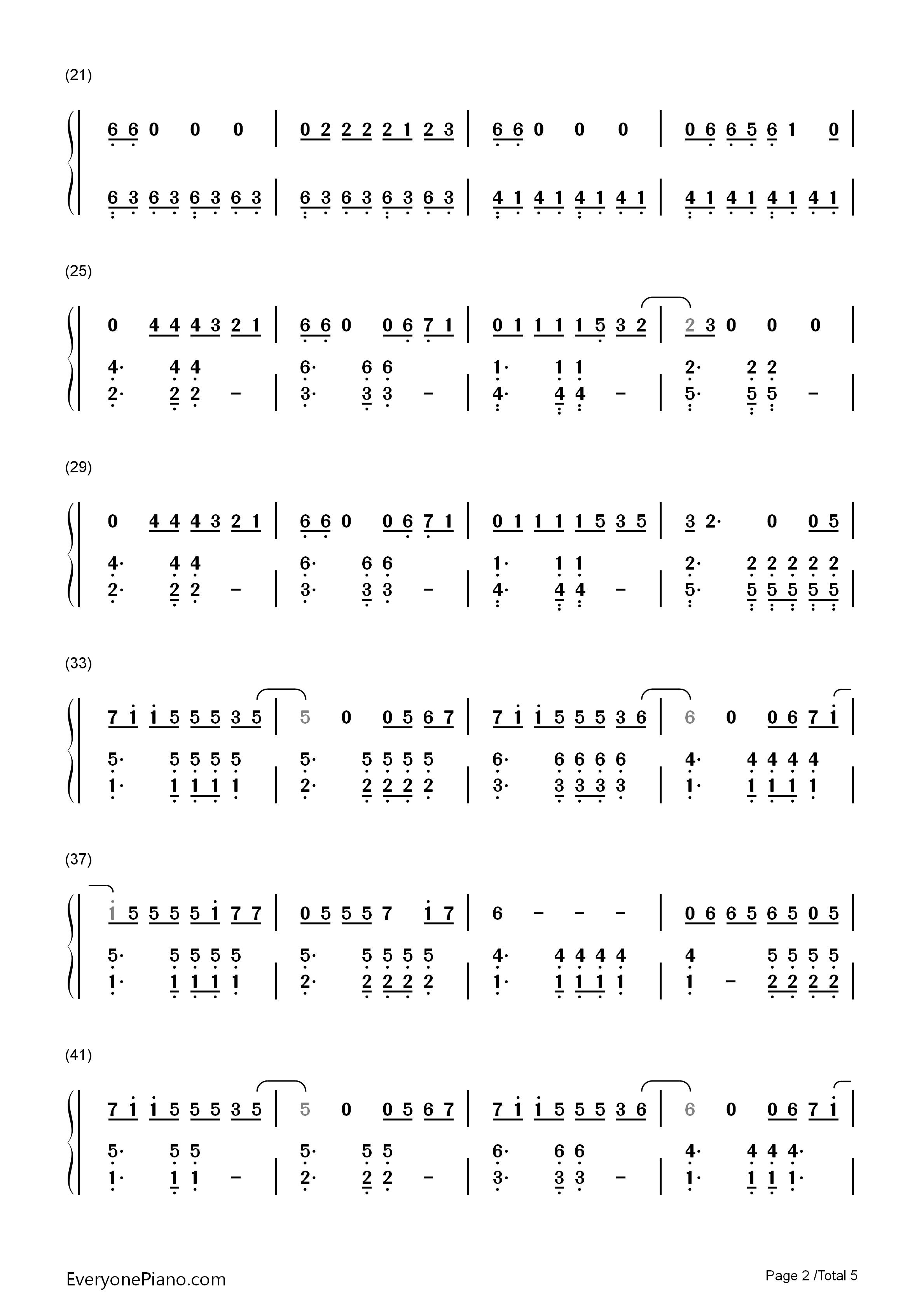 欢乐颂-欢乐颂主题曲双手简谱预览2