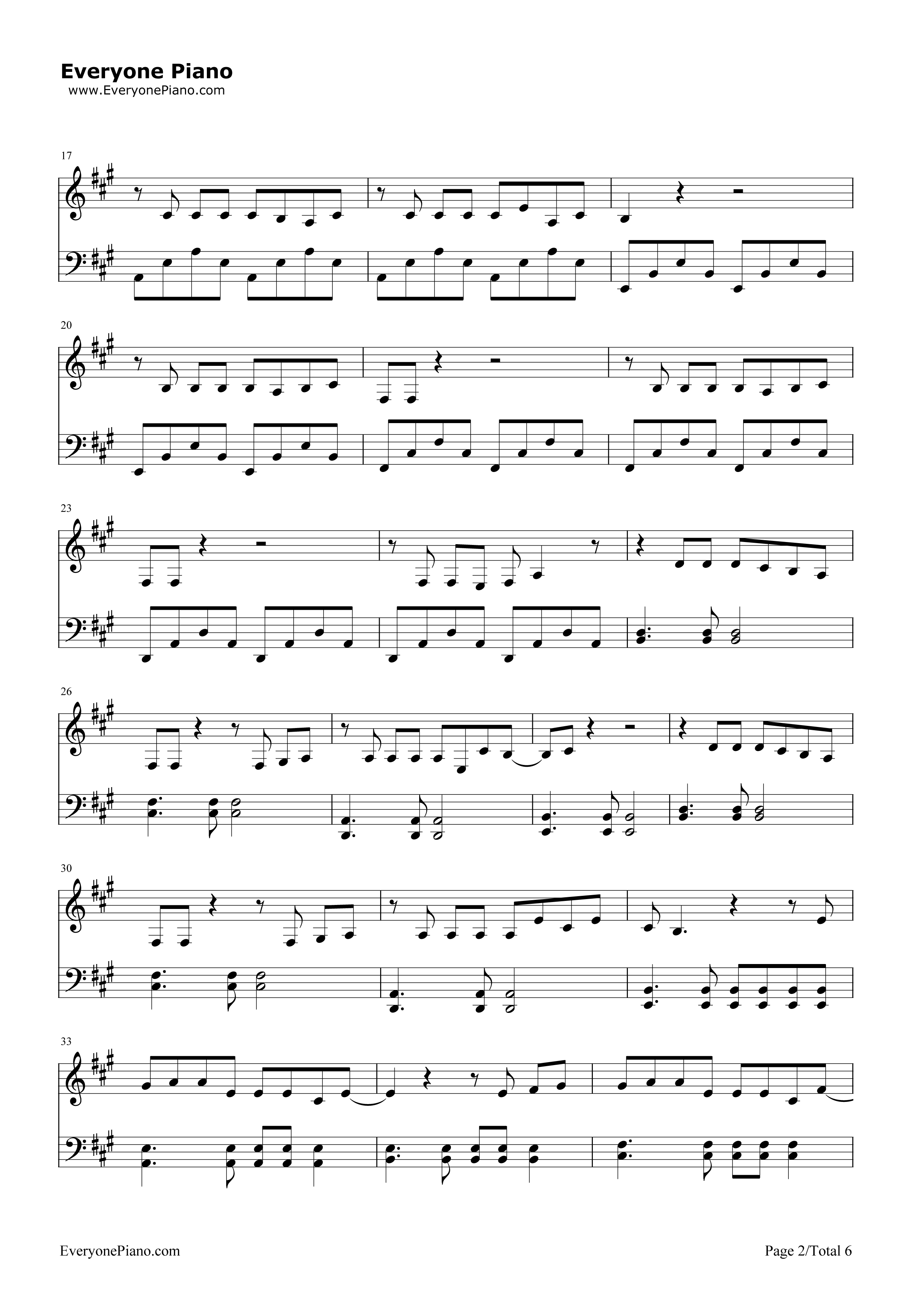欢乐颂-欢乐颂主题曲五线谱预览2