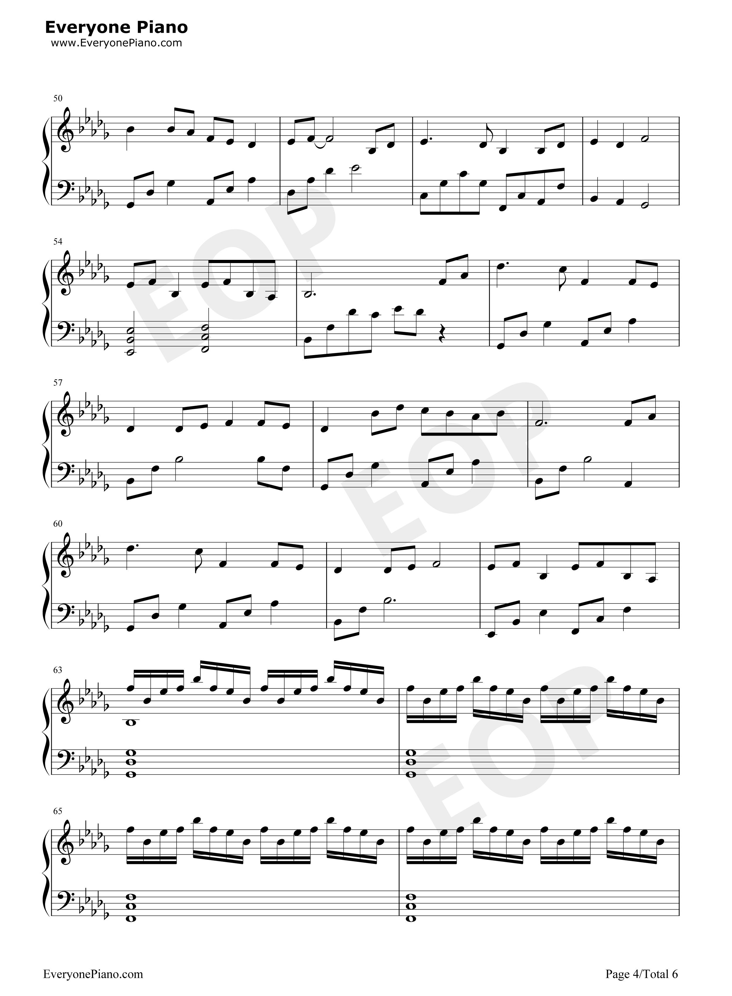大鱼-周深五线谱预览4-钢琴谱档(五线谱,双手简谱,数图片