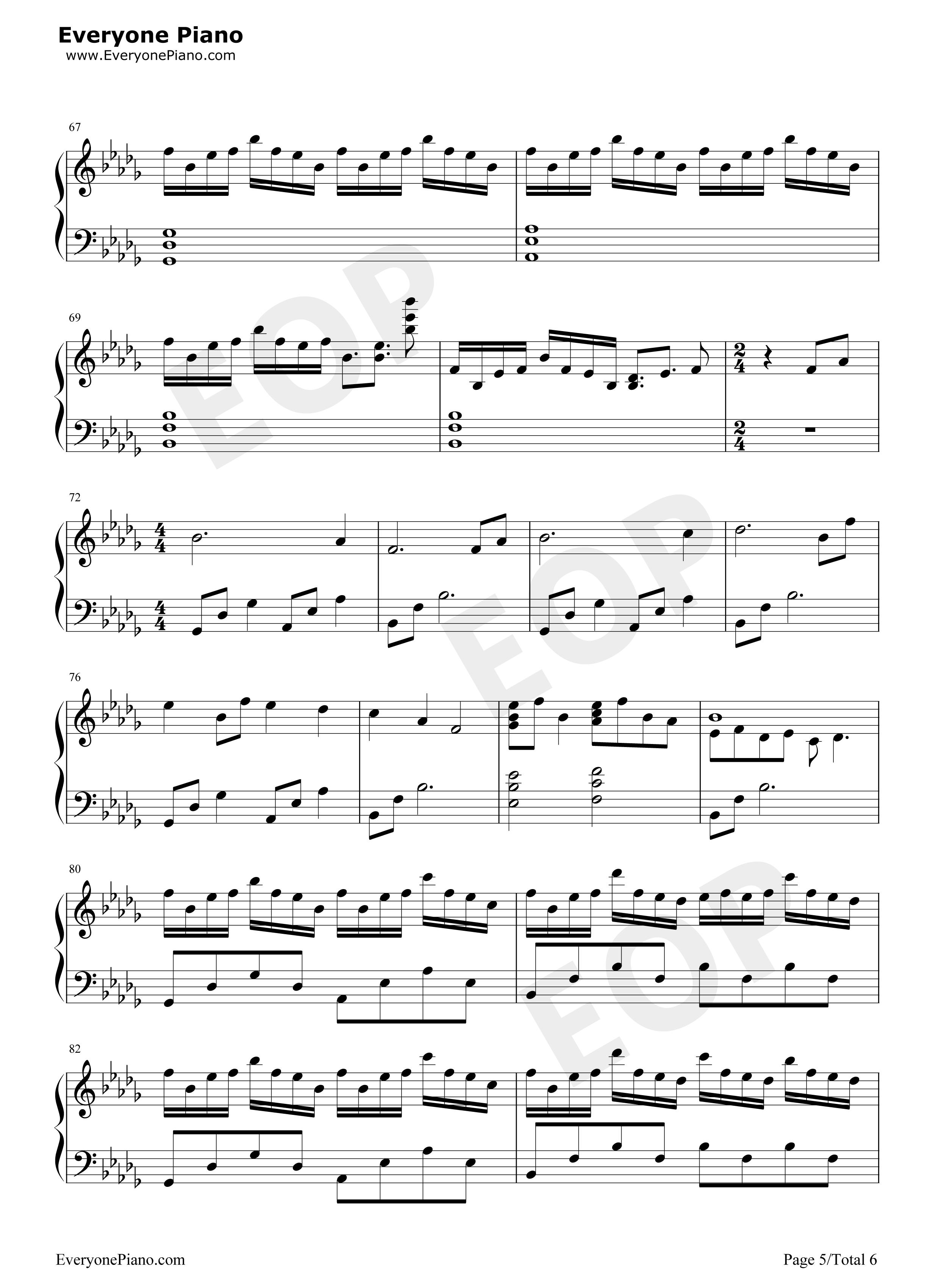 大鱼-周深五线谱预览5-钢琴谱档(五线谱,双手简谱,数图片