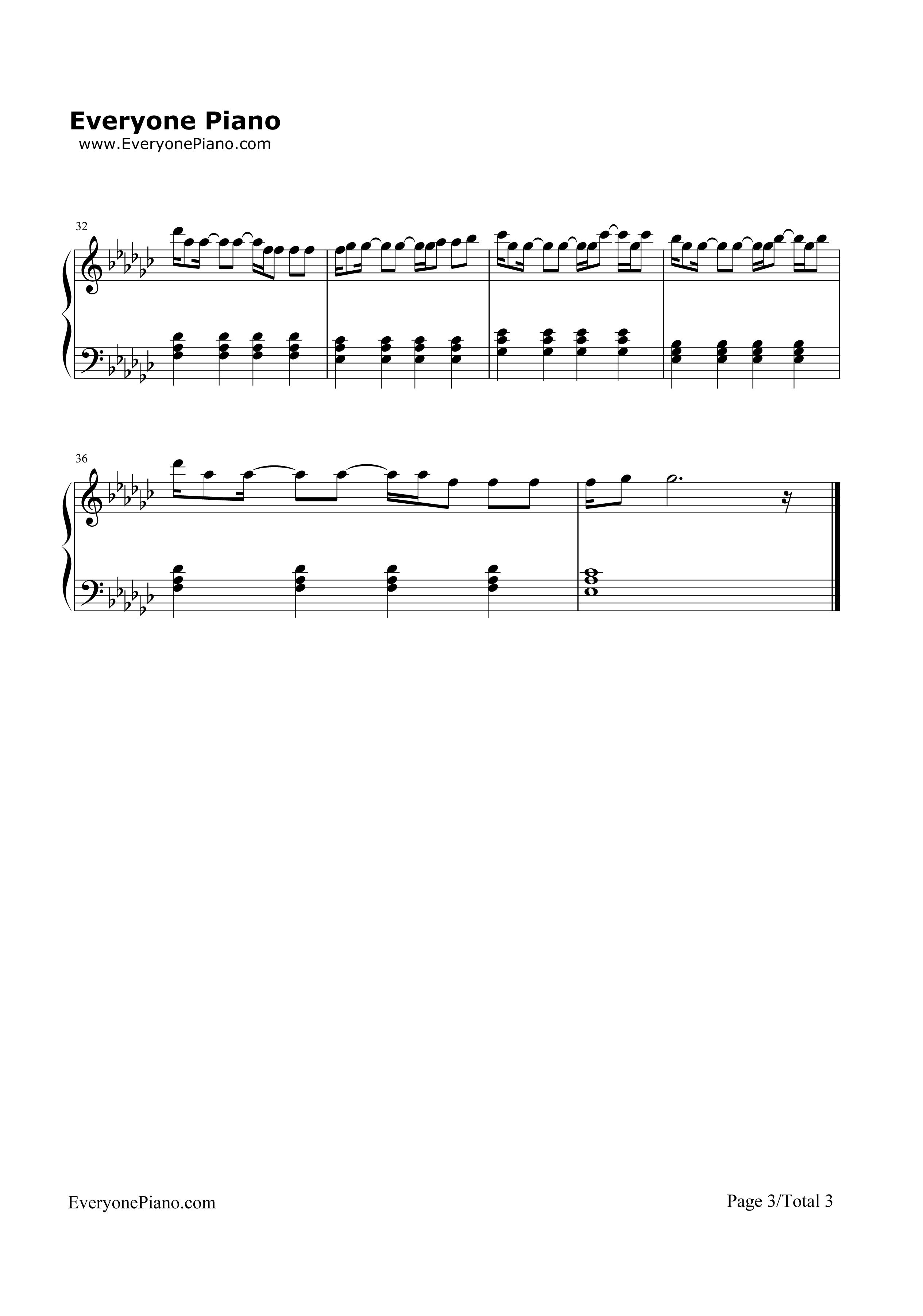 钢琴曲谱 流行 raging raging五线谱预览3  }  仅供学习交流使用!