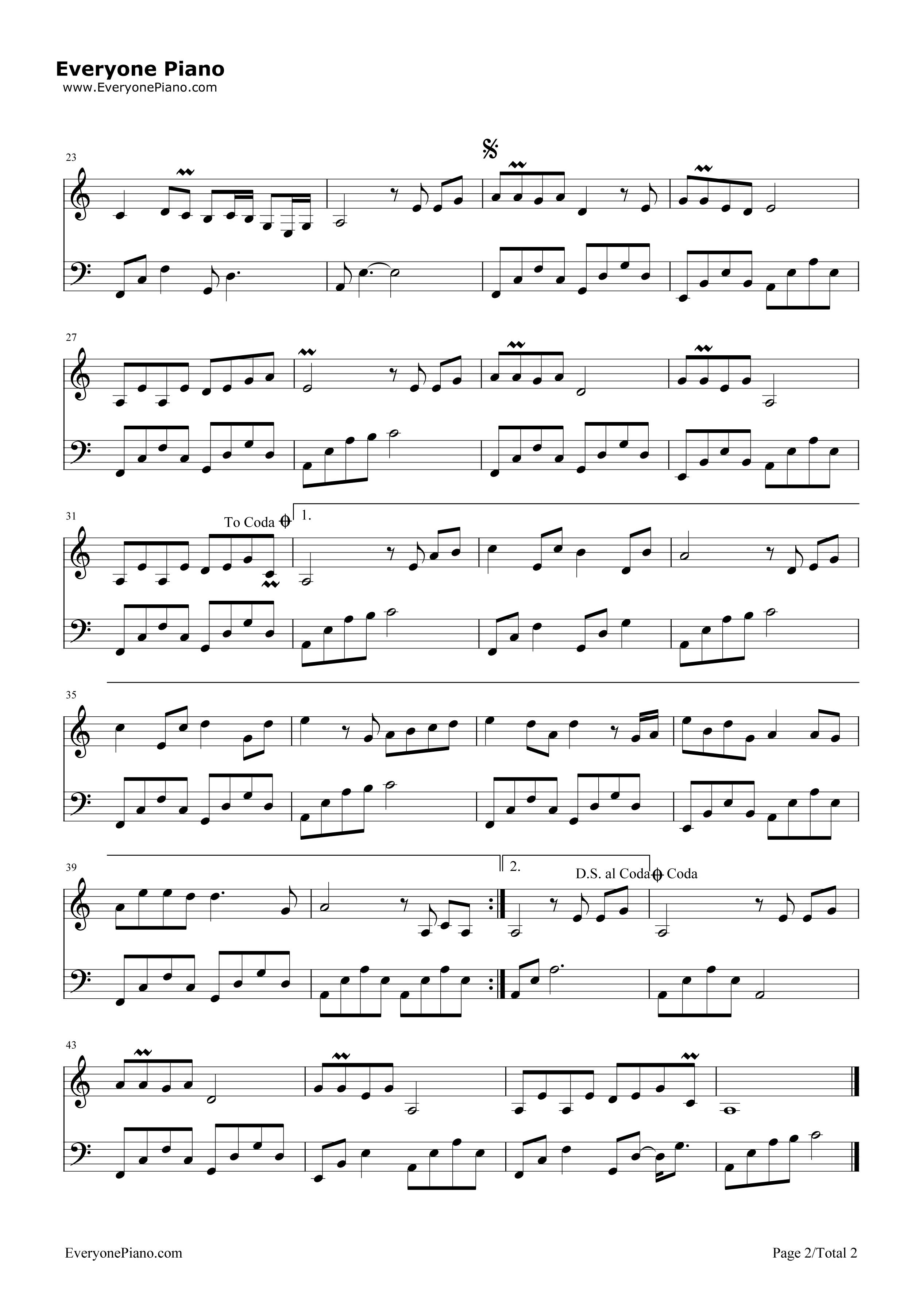 半壶纱-带歌词版五线谱预览2