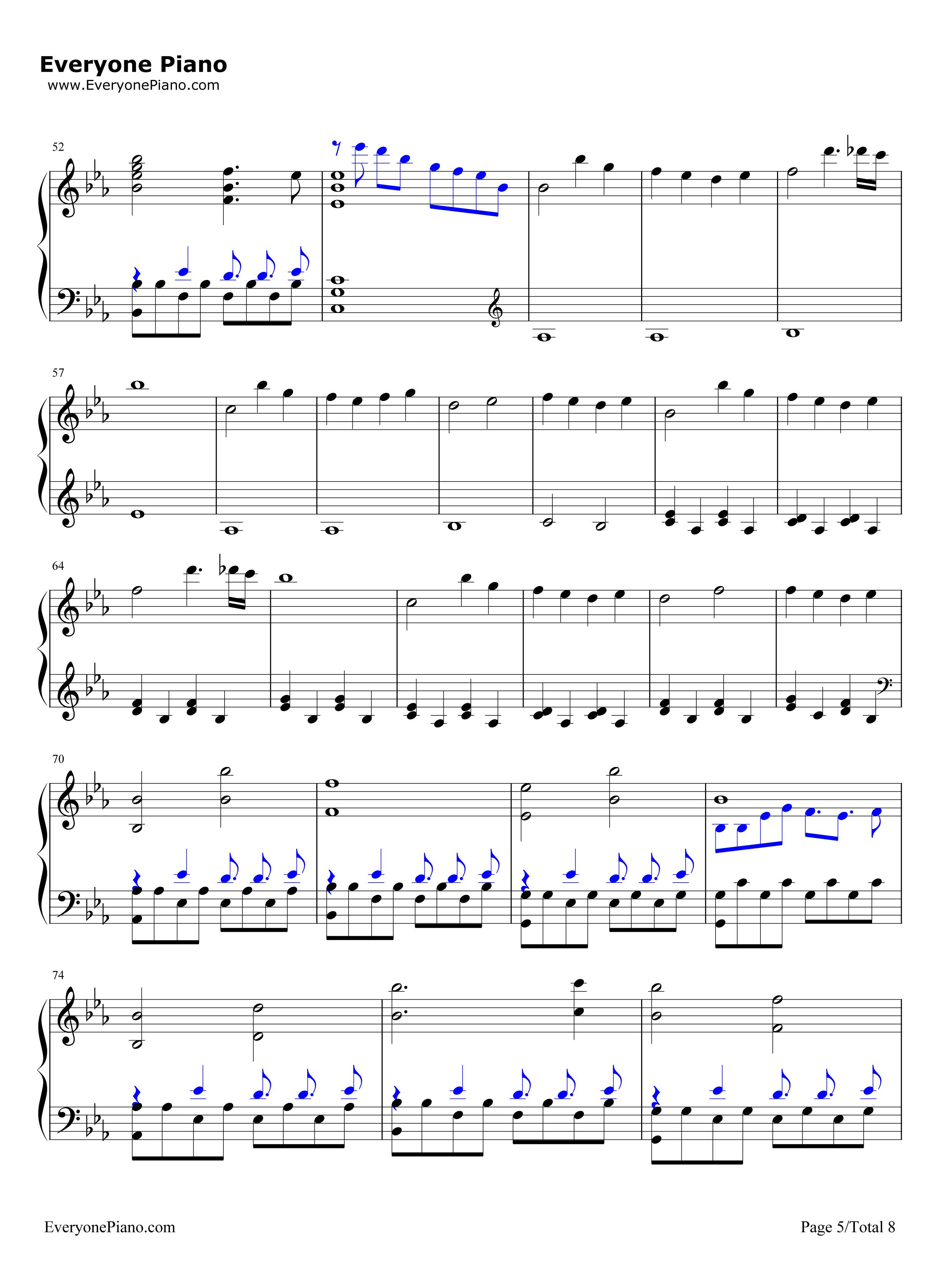 五线谱预览5 钢琴谱档 五线谱 双手简谱 数位谱 Midi PDF 免费下载