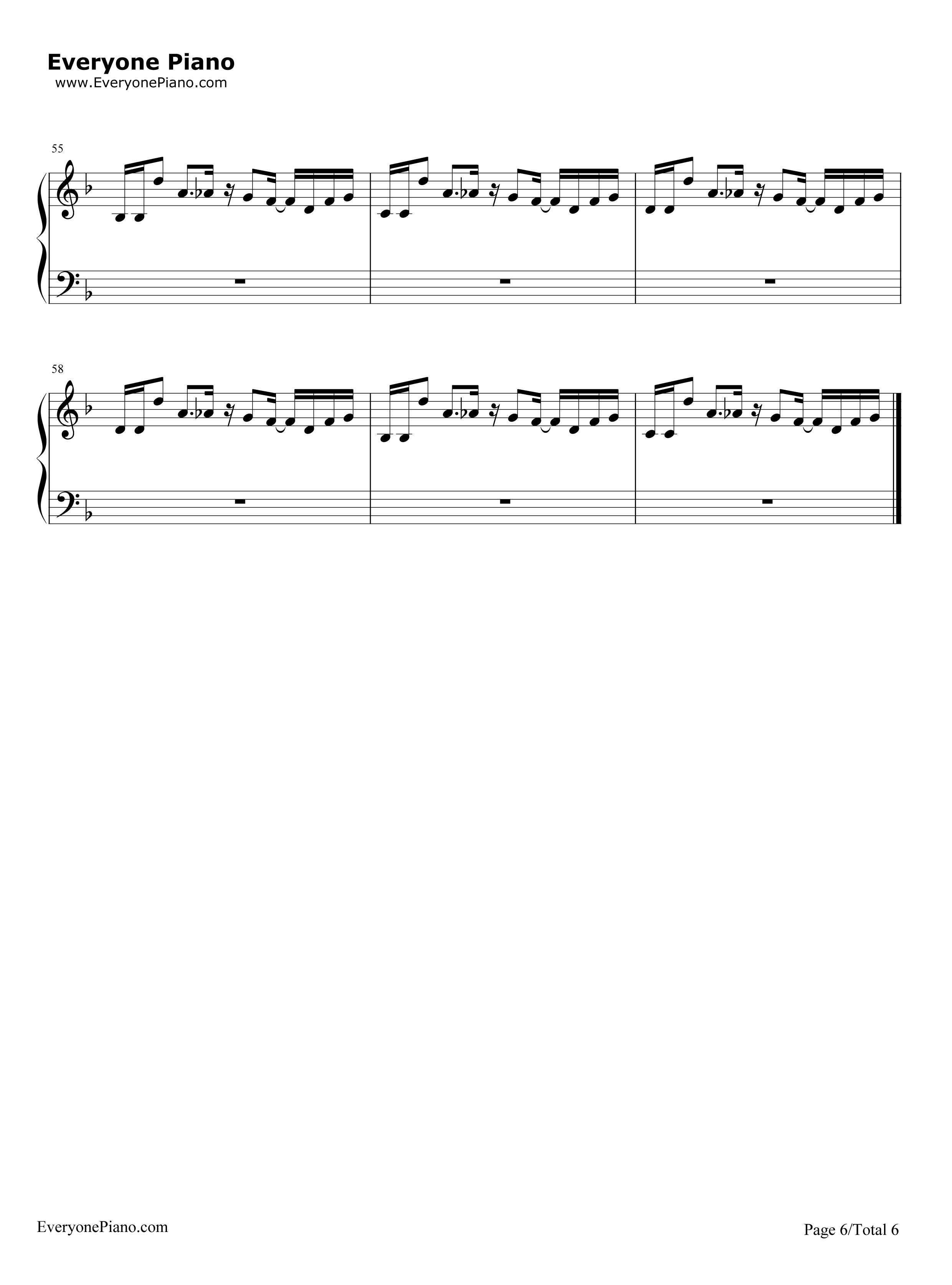 ale OST五线谱预览6 钢琴谱档 五线谱 双手简谱 数位谱 Midi PDF 免