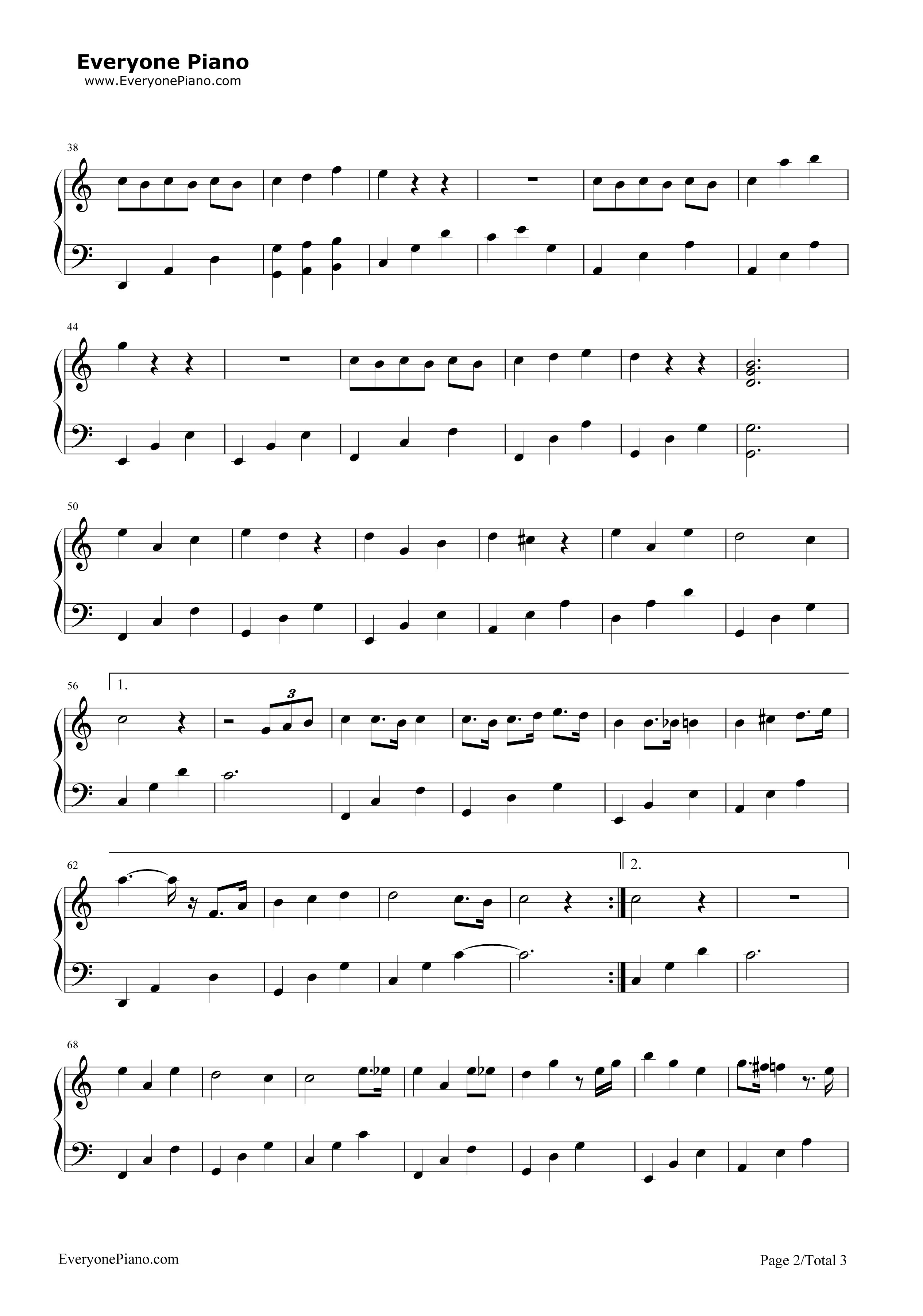 下一秒-微微一笑很倾城插曲五线谱预览2-钢琴谱(,双手