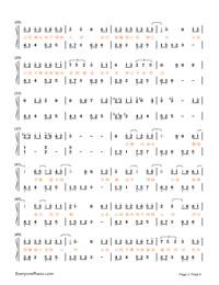 逐风简谱网 钢琴谱 从此以后钢琴数字简谱图片