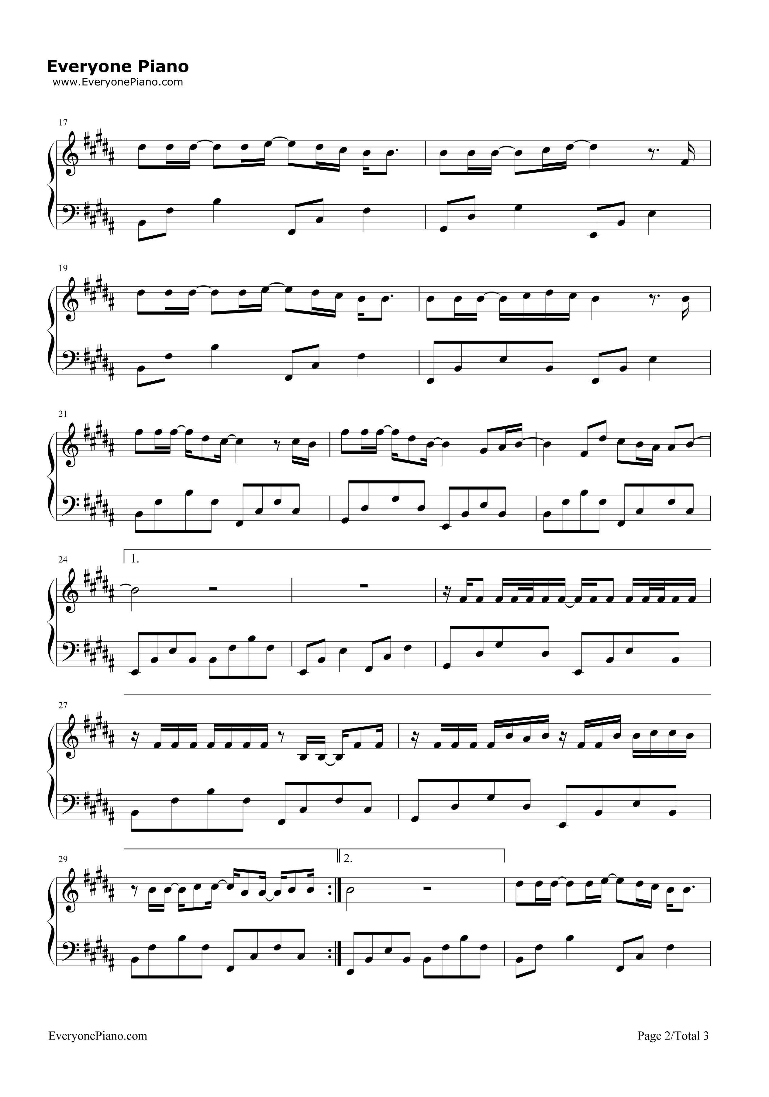 67树读-王俊凯五线谱预览2-钢琴谱(五线谱,双手简谱