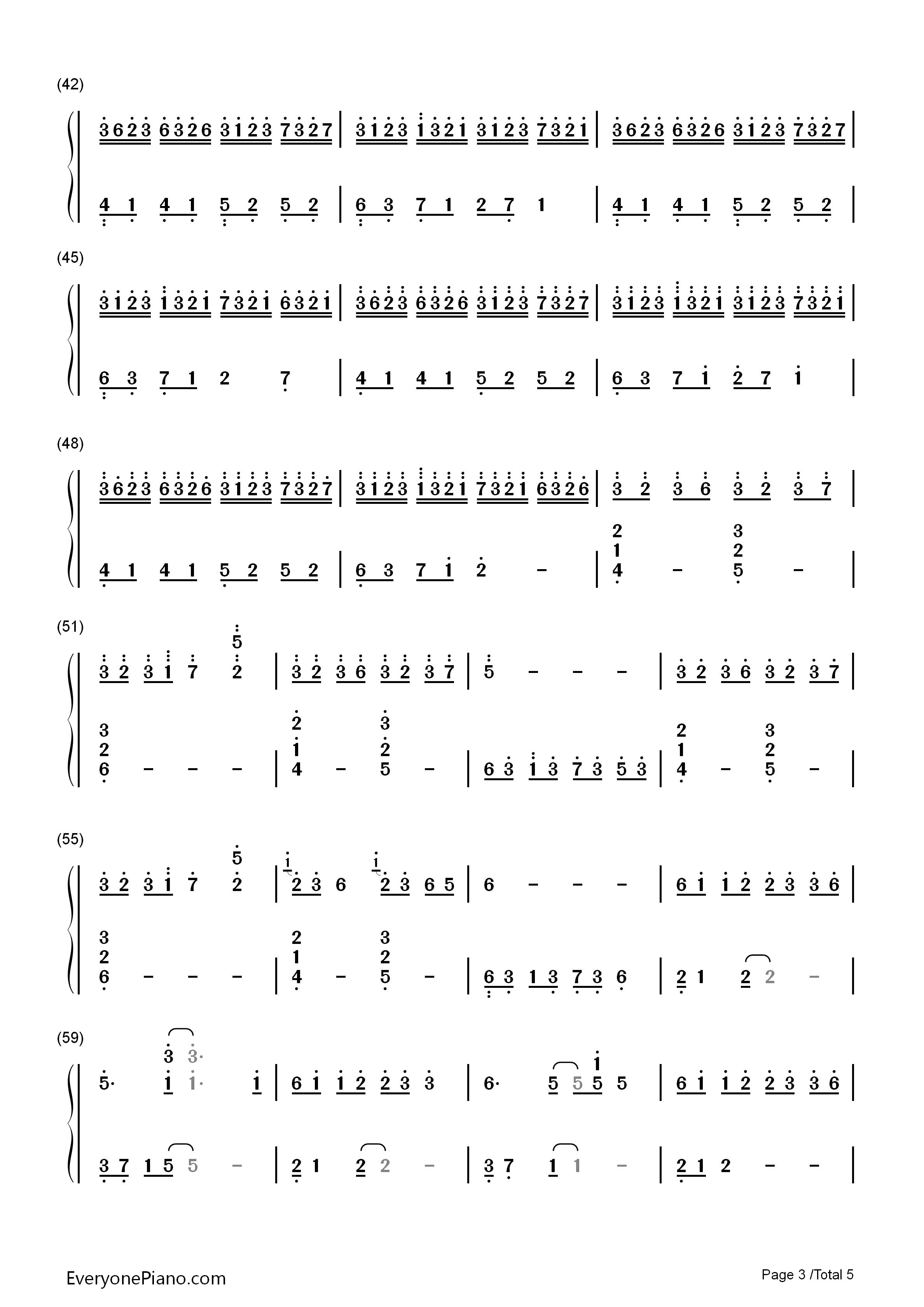 大鱼古筝曲谱双手版图片