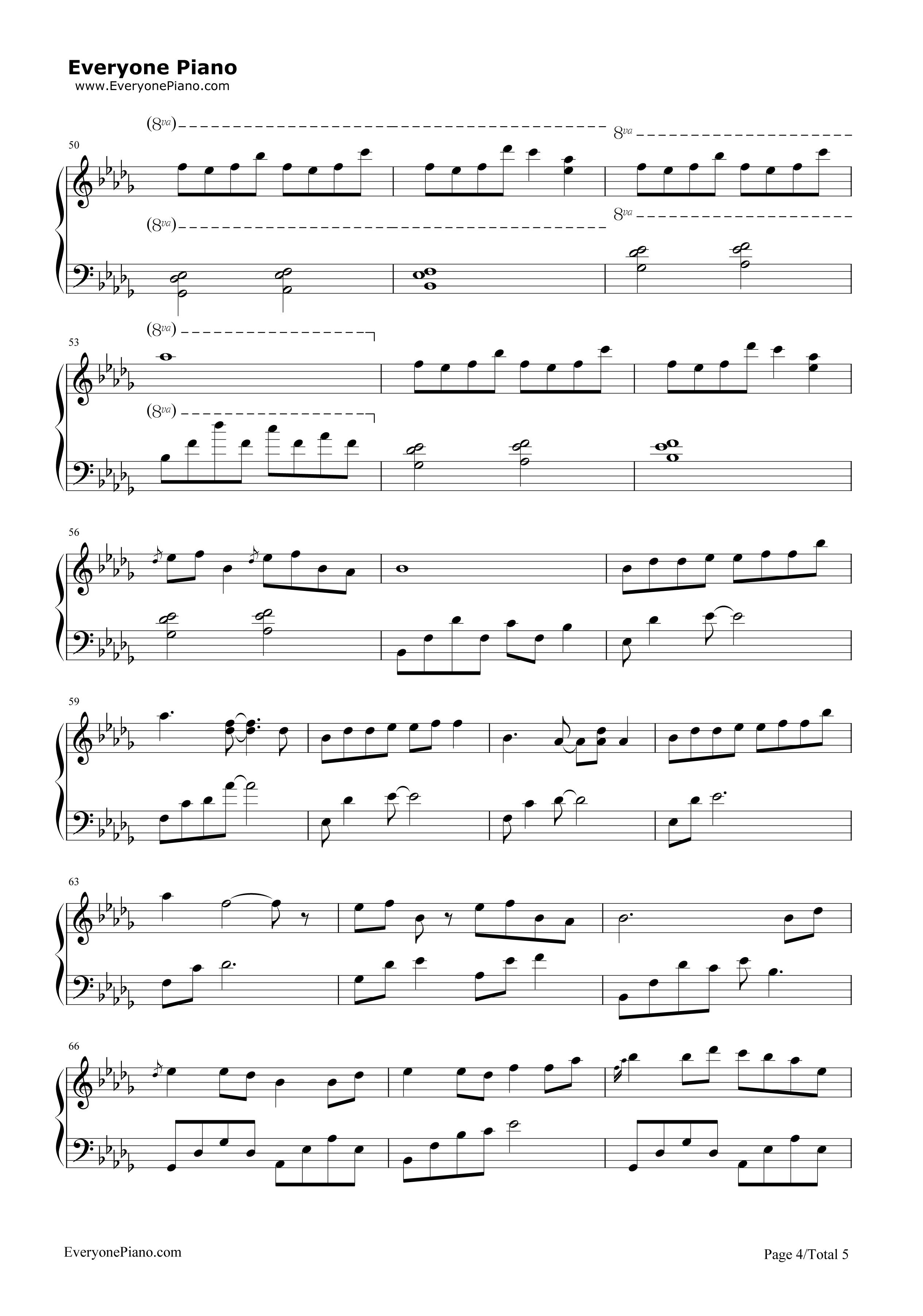 钢琴曲谱 影视 《大鱼》完美演奏版-《大鱼海棠》印象曲 《大鱼》完美