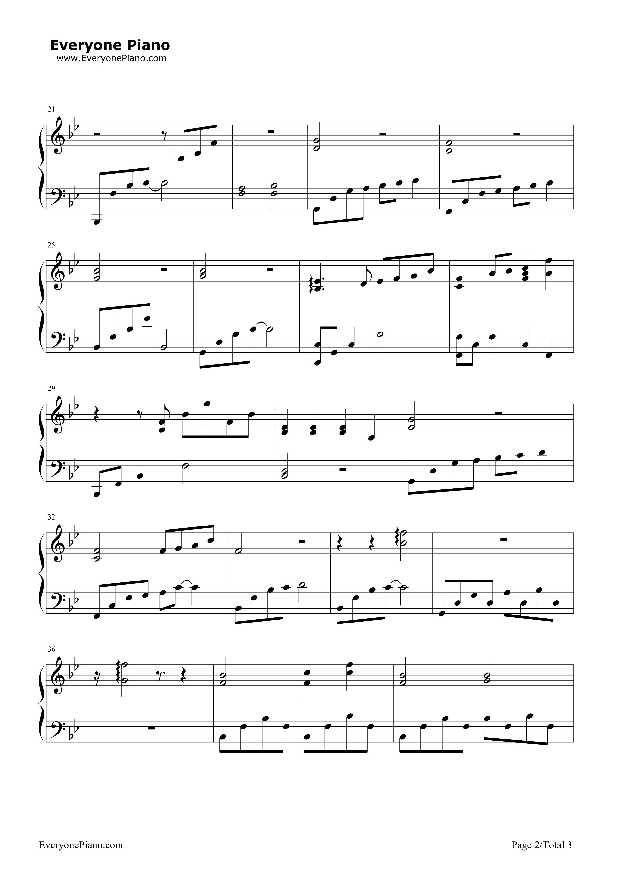 下雨了-薛之谦五线谱预览2-钢琴谱档(五线谱,双手简谱