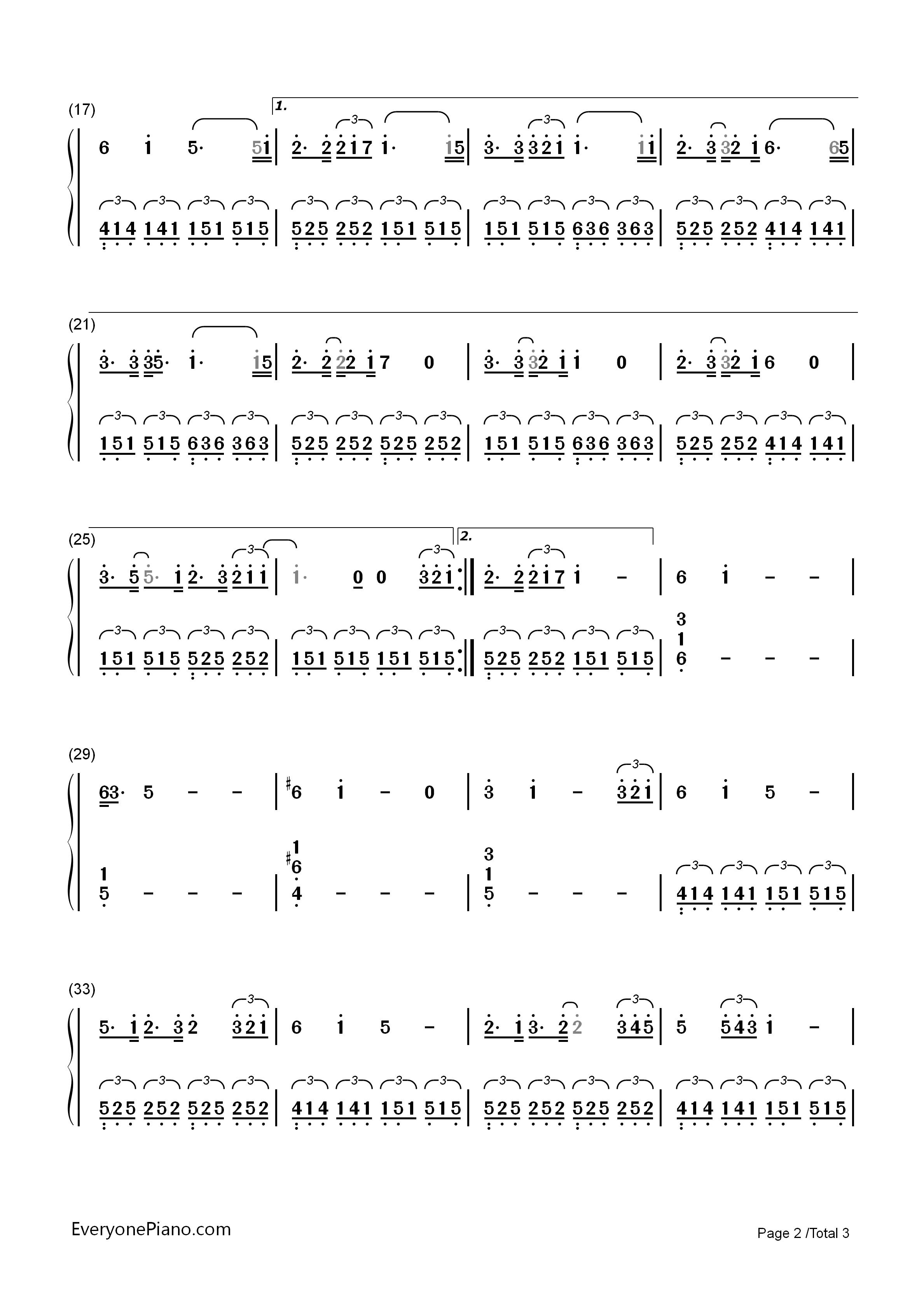song of the sea (lullaby)-电影《海洋之歌》片尾曲双手简谱预览2
