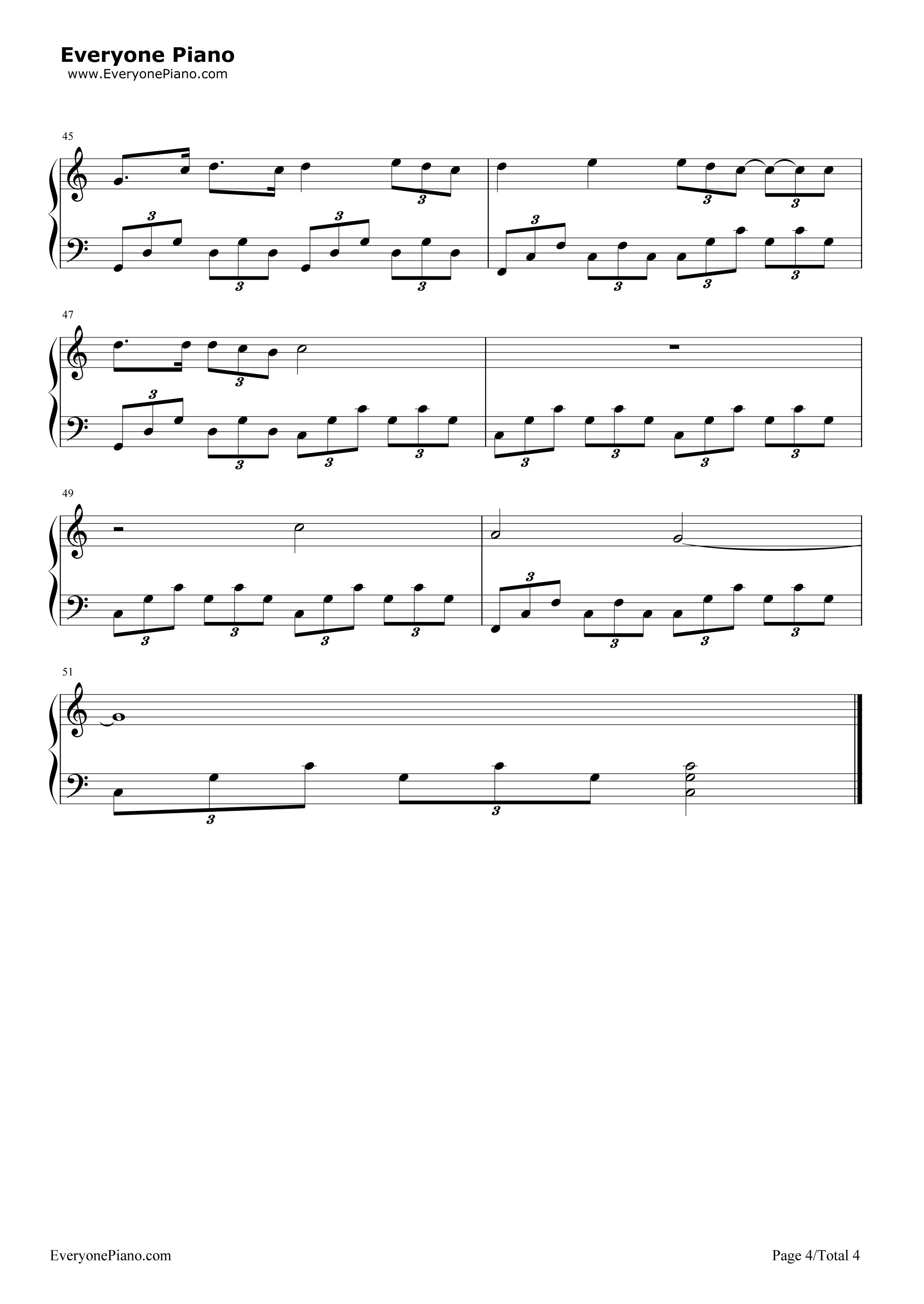 song of the sea (lullaby)-电影《海洋之歌》片尾曲五线谱预览4