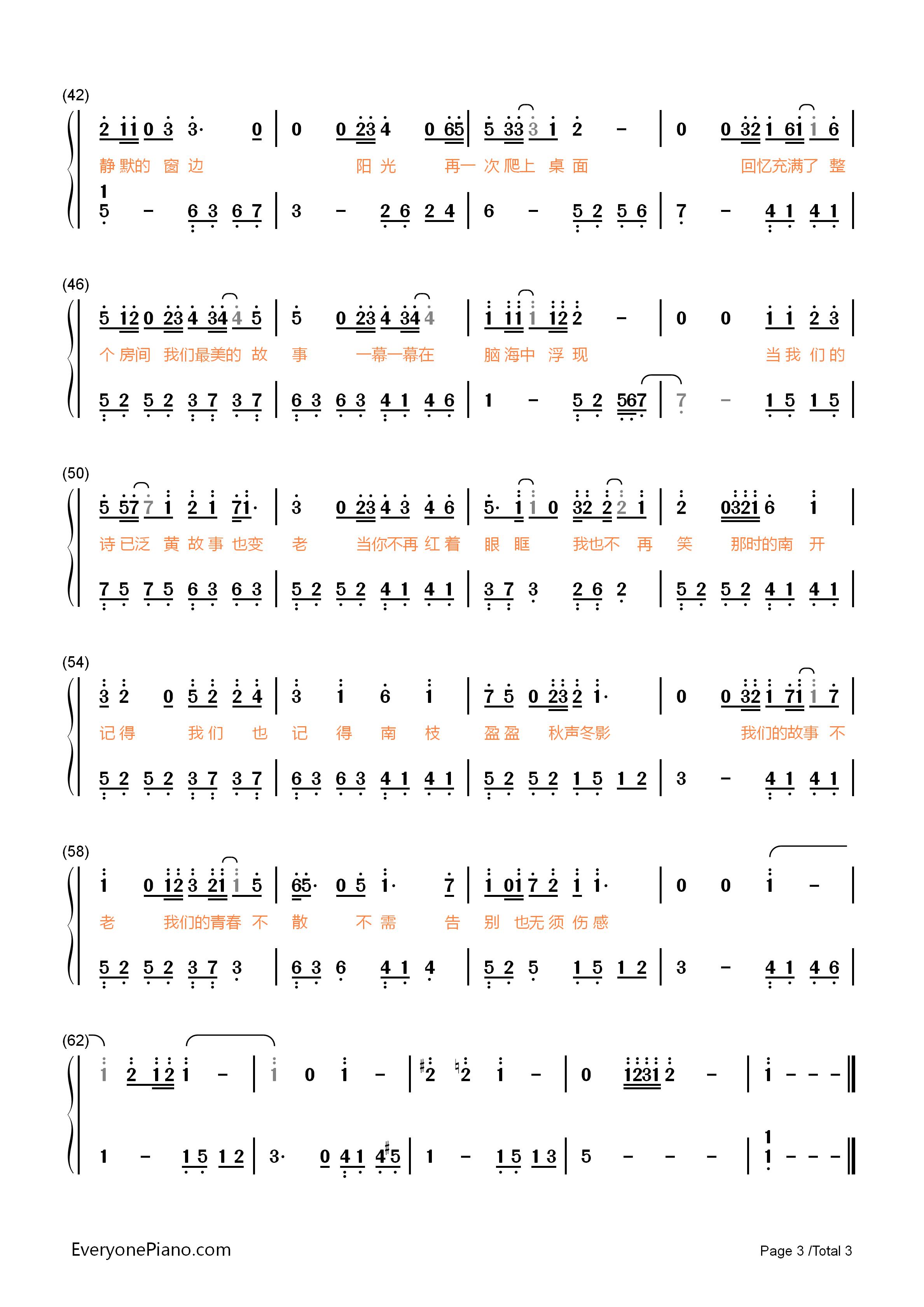钢琴曲谱 流行 最美的时光-王源 最美的时光-王源双手简谱预览3  }