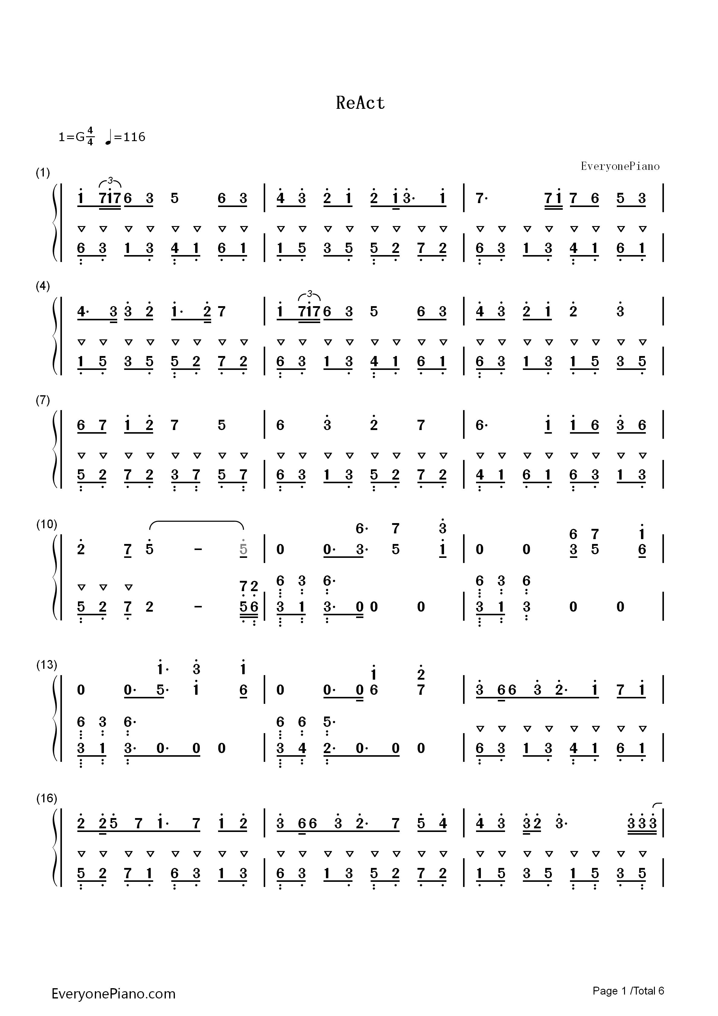react-初音未来,镜音双子双手简谱预览