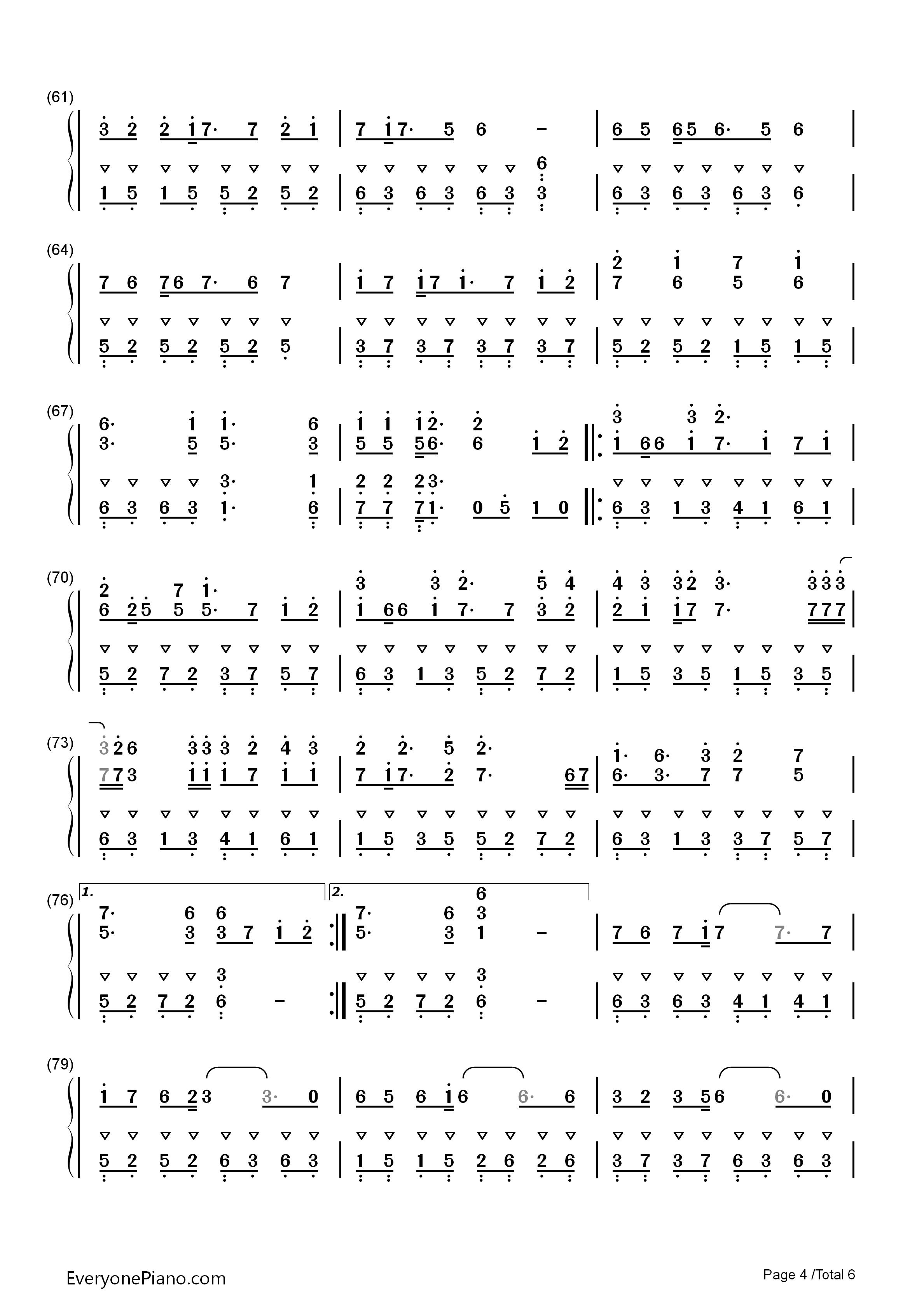 react-初音未来,镜音双子双手简谱预览4