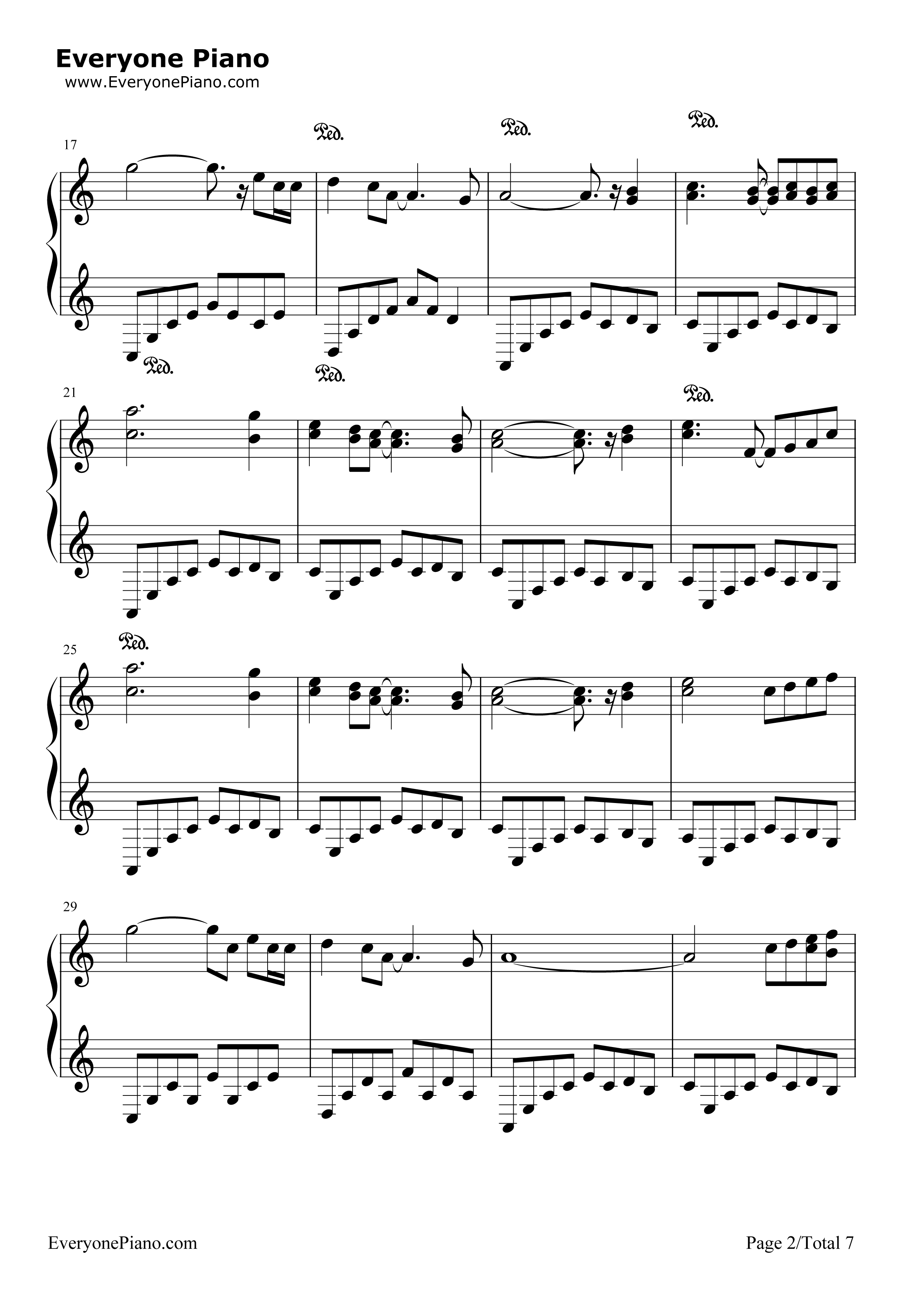 钢琴曲谱 轻音乐 欧塔妃-《梦花园》班得瑞 欧塔妃-《梦花园》班得瑞