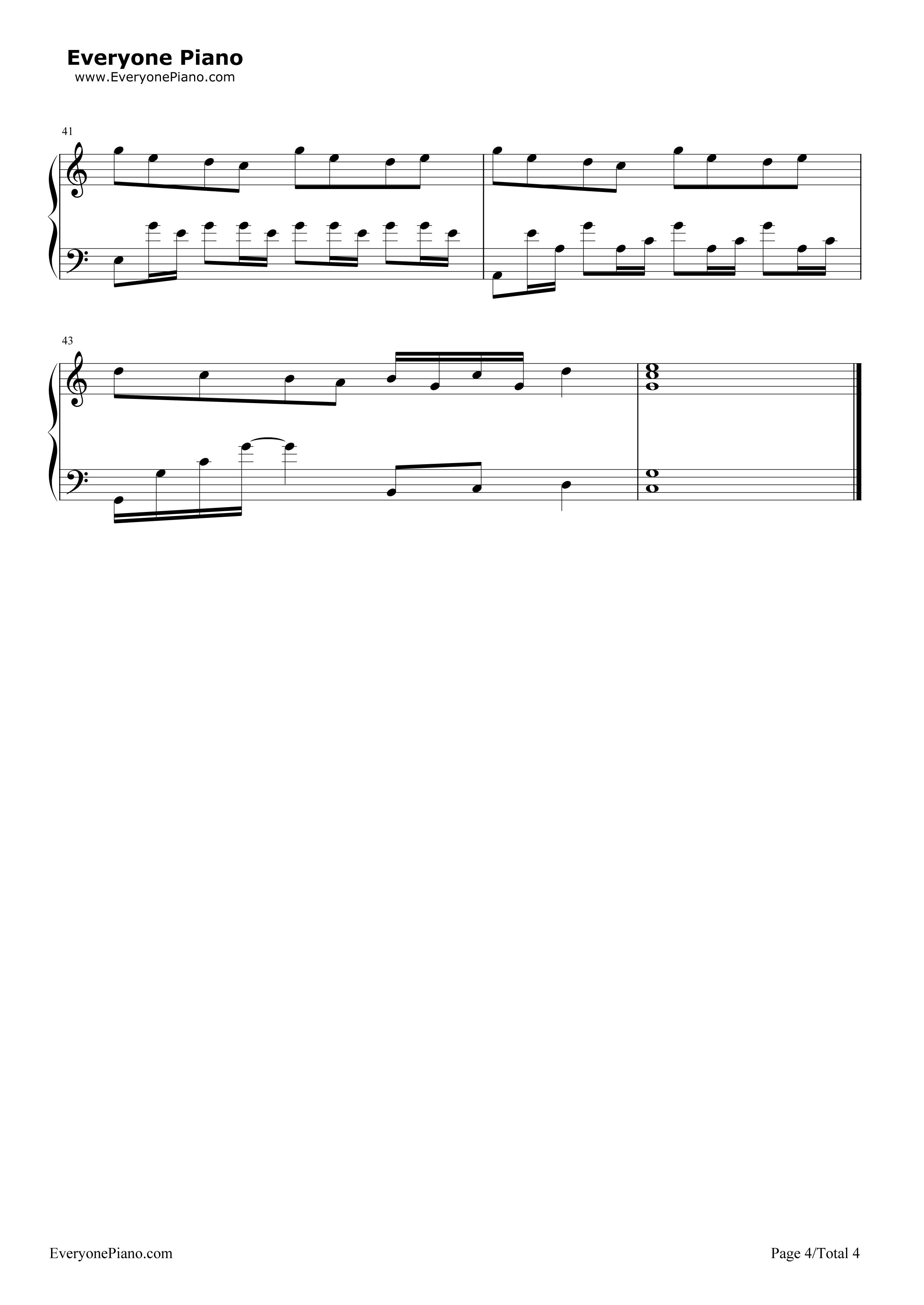钢琴曲谱 影视 好好(想把你写成一首歌)-《你的名字》中文主题曲 好