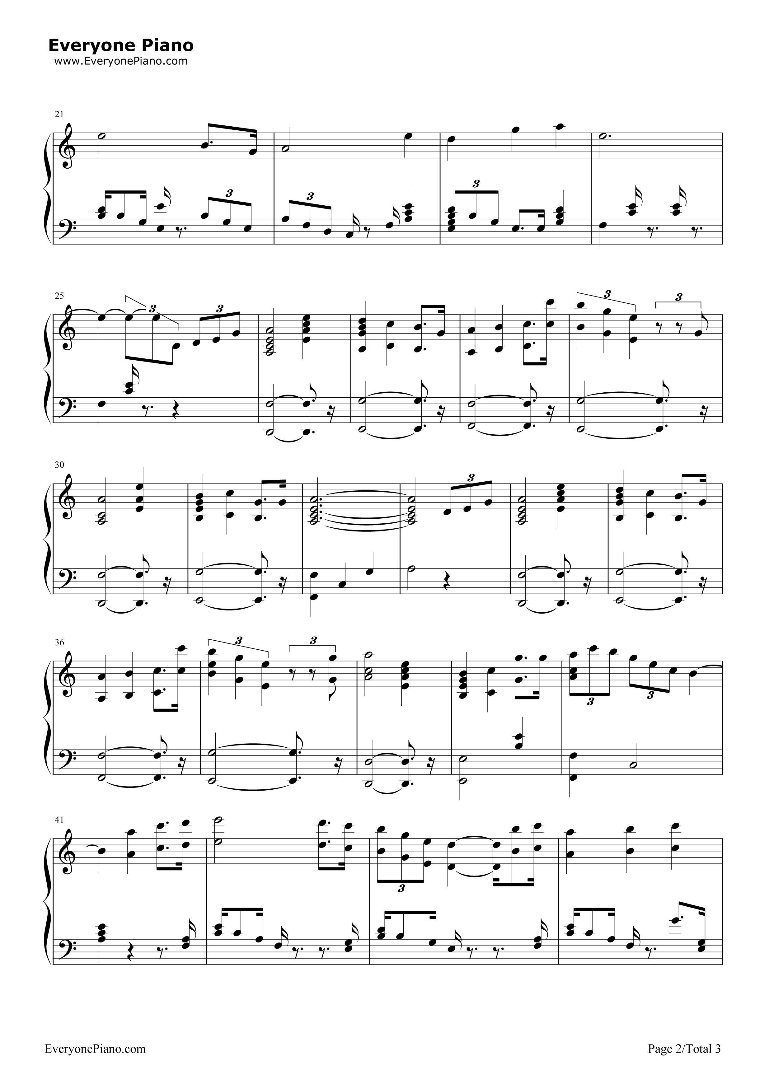 钢琴曲谱 其他 女皇花园-冒险岛maple story背景音乐 女皇花园-冒险岛