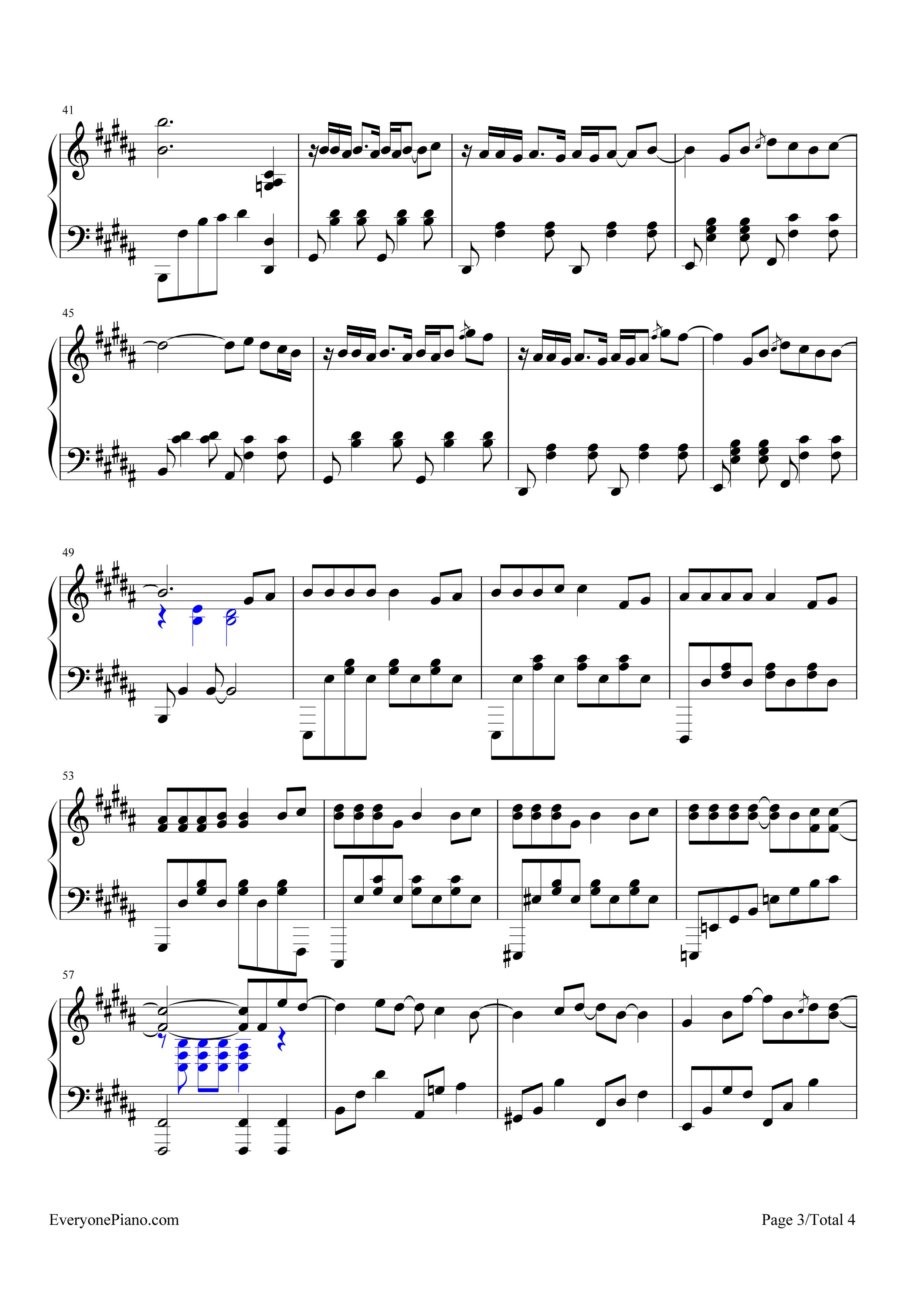 钢琴曲谱 流行 告白气球-完美演奏版 告白气球-完美演奏版五线谱预览3